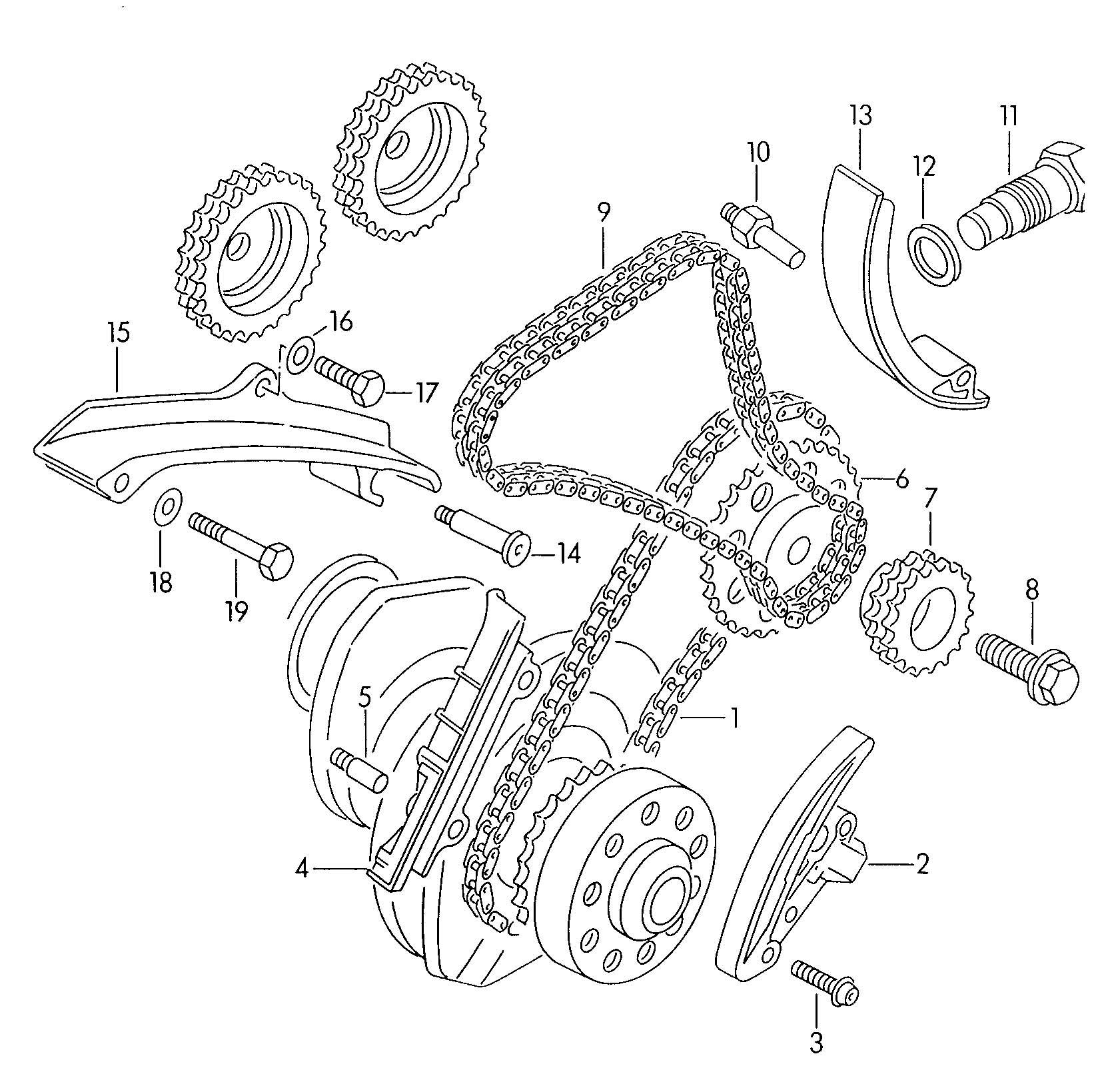 Volkswagen Jetta 4 At 2 8l 6 Cylinder Timing Chain