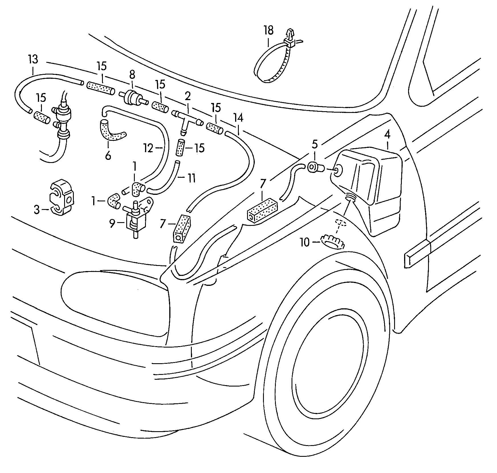 Volkswagen Cabrio Cabriolet 2 0l Solenoid Valve Aaz