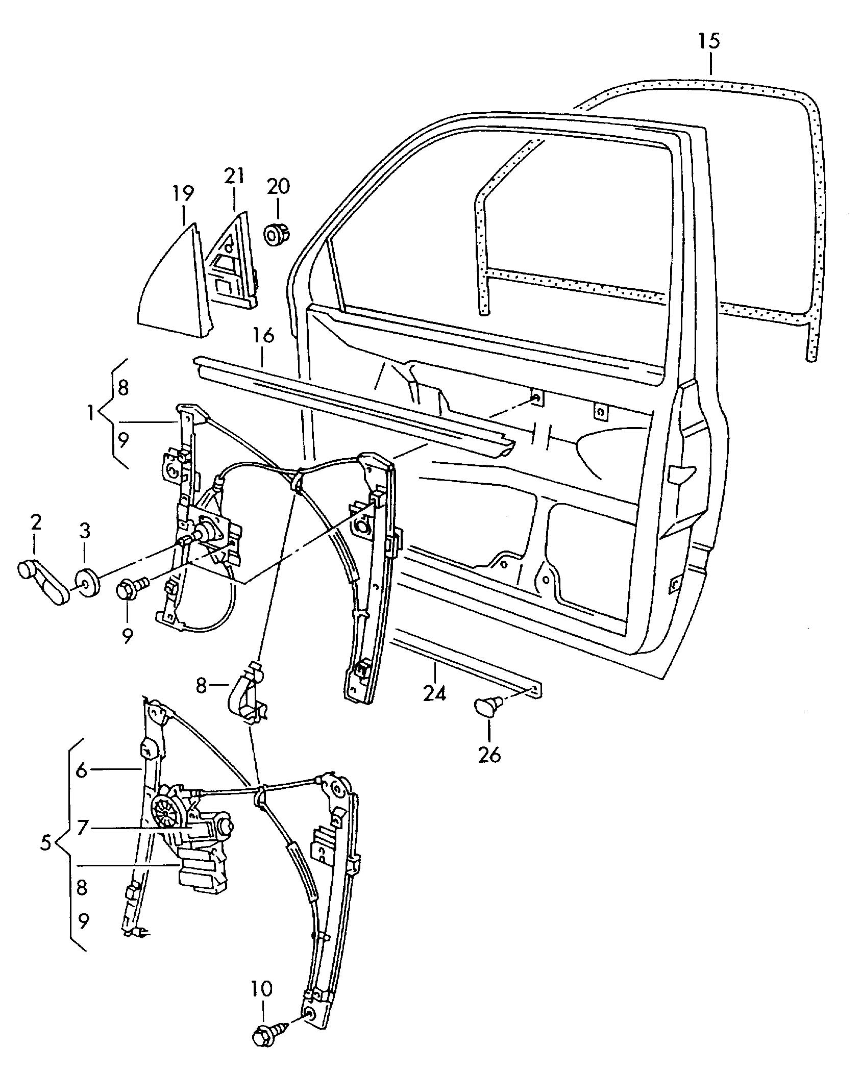 Brose 1h A Left Window Lifter Motor For Volkswagen