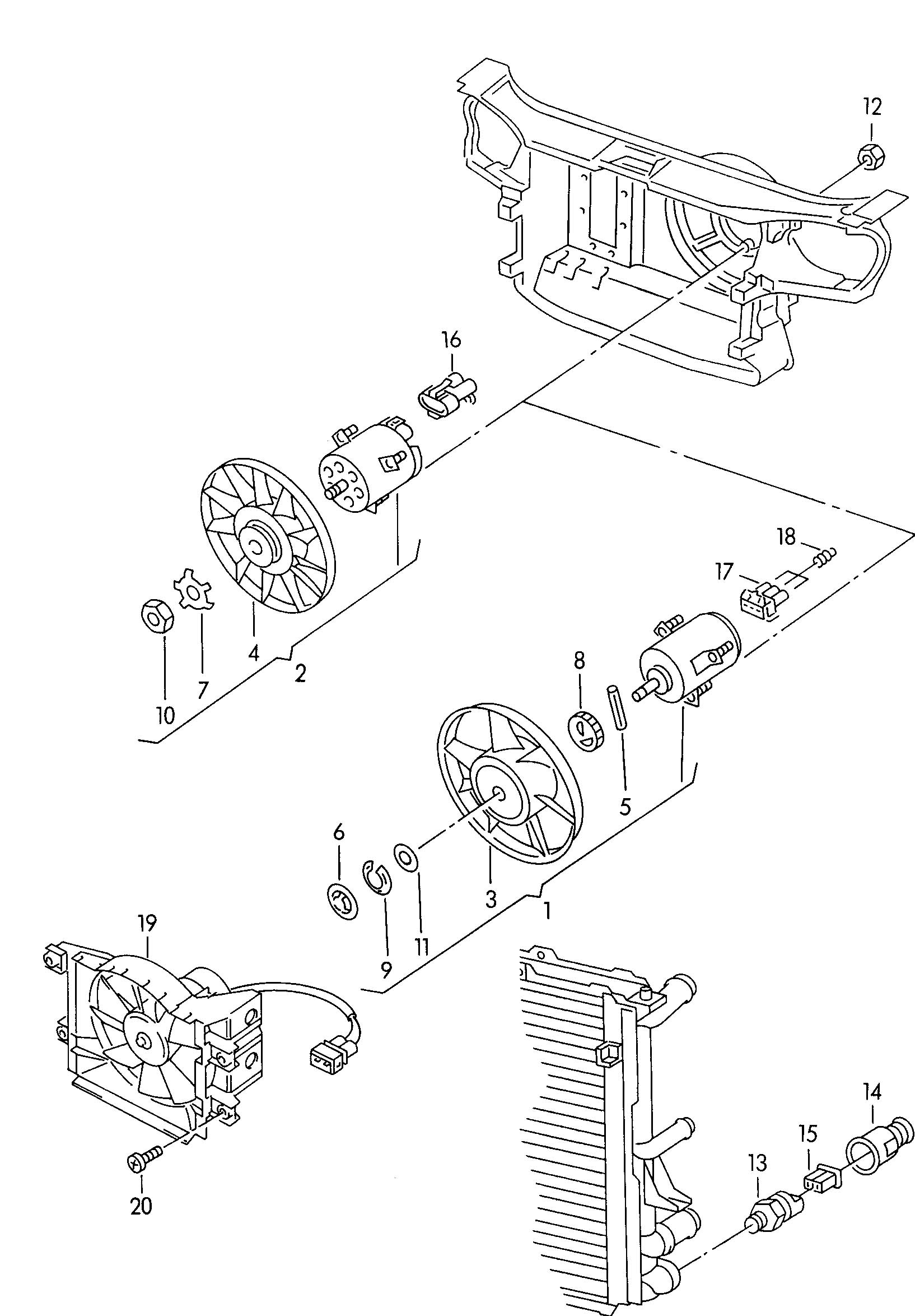 Volkswagen Golf Flat Contact Housing With Electric Fan
