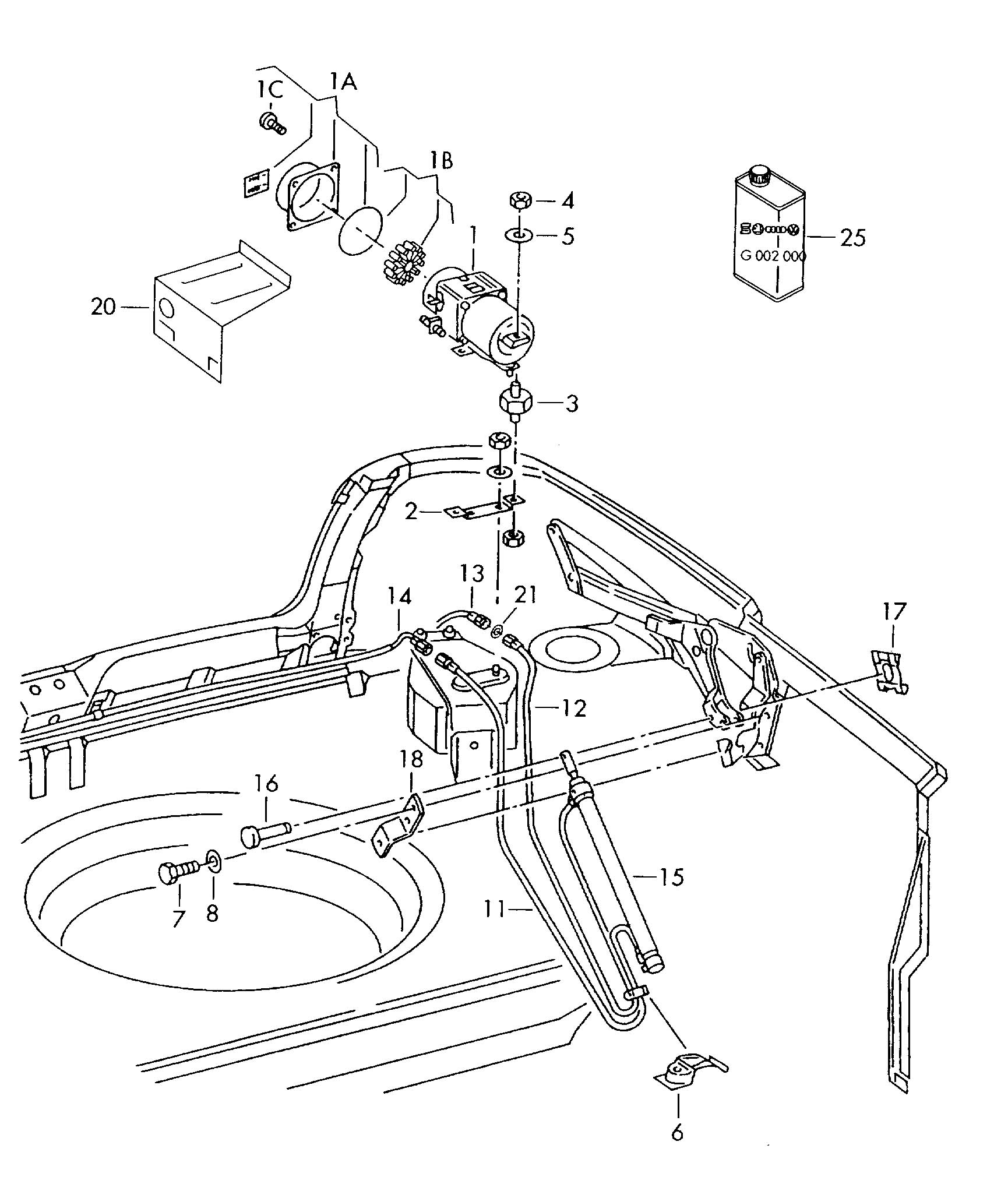 Volkswagen Cabrio Cabriolet Hydraulic System For