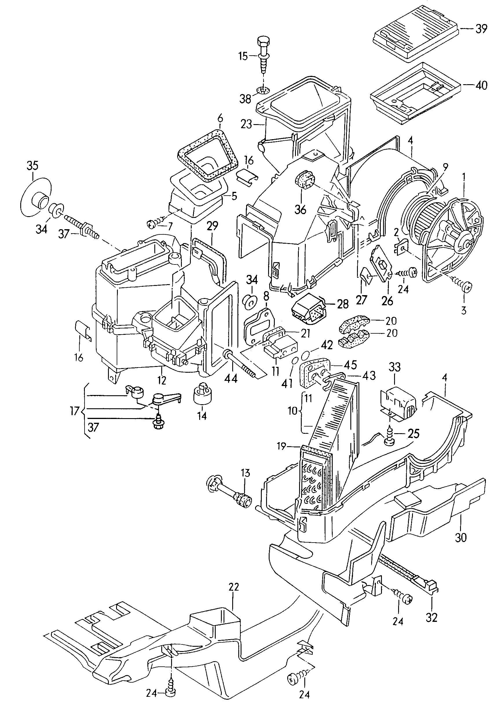 Volkswagen Passat Expansion Valve R134a Distribution