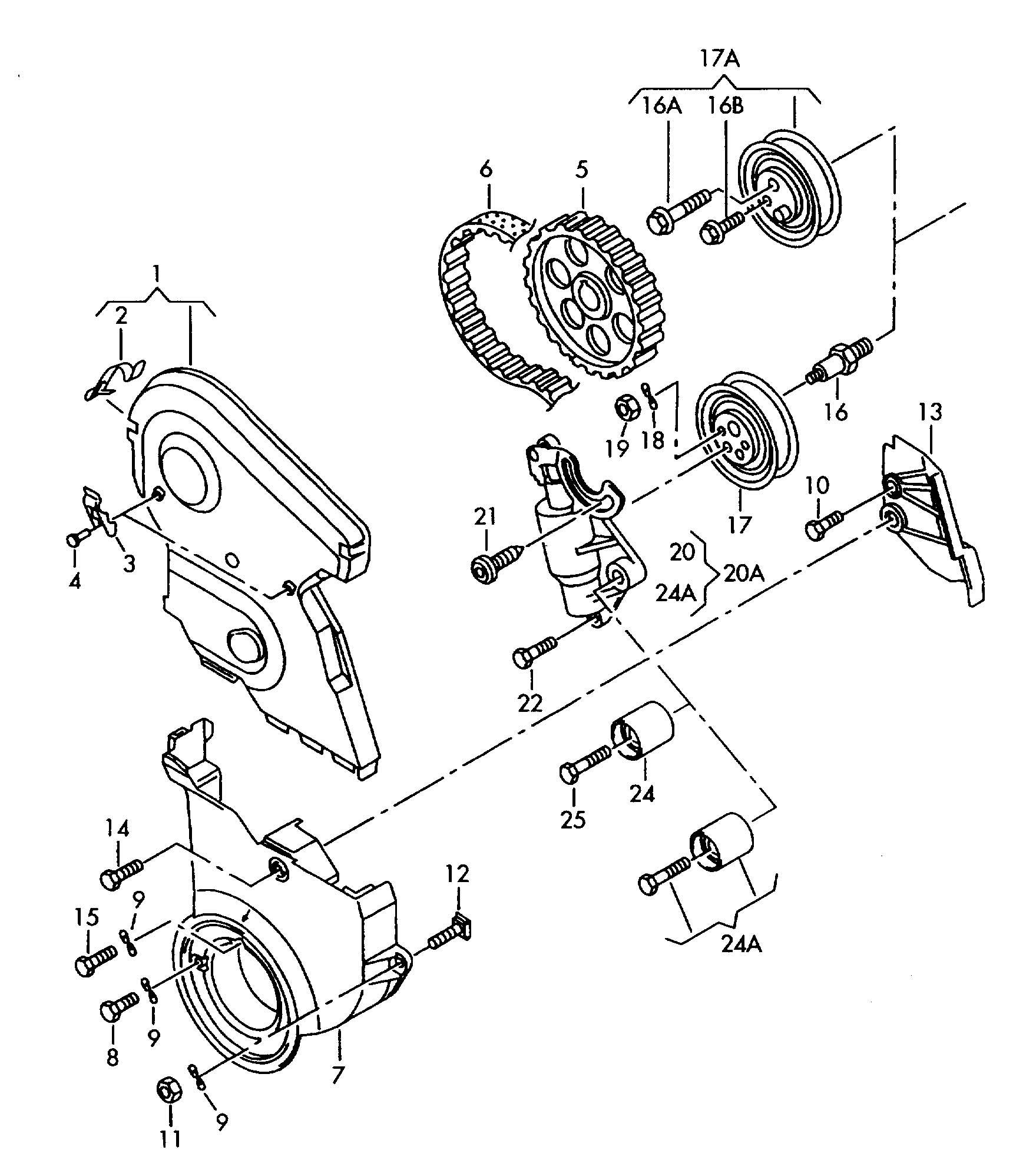 Volkswagen Passat Belt Tensioner Roller Atw Tensioning