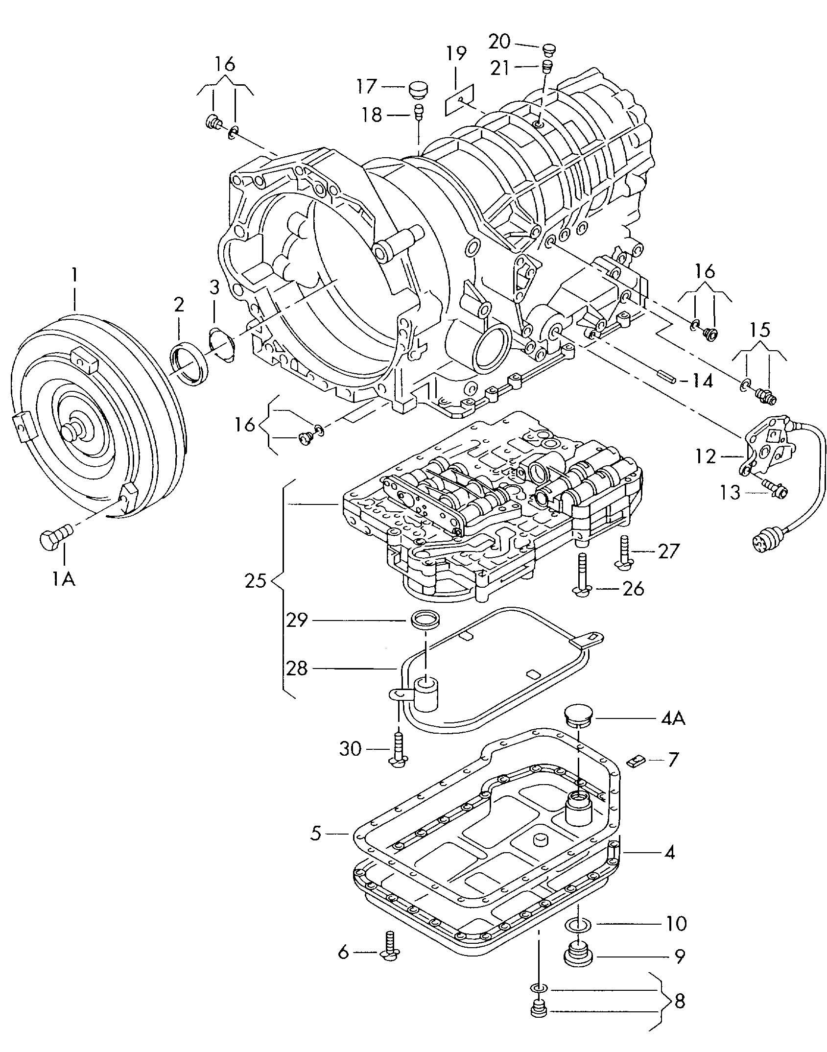 Volkswagen Phaeton Torque Converter Valve Body For 5 Speed