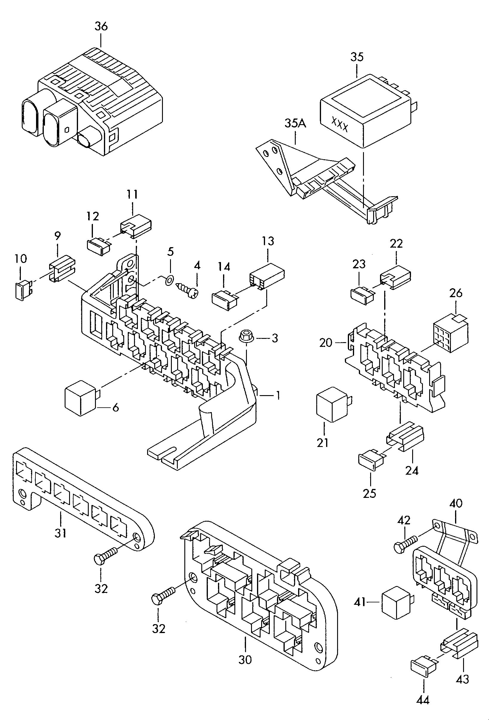 Volkswagen Passat Secondary Air Pump Fuse Holder For