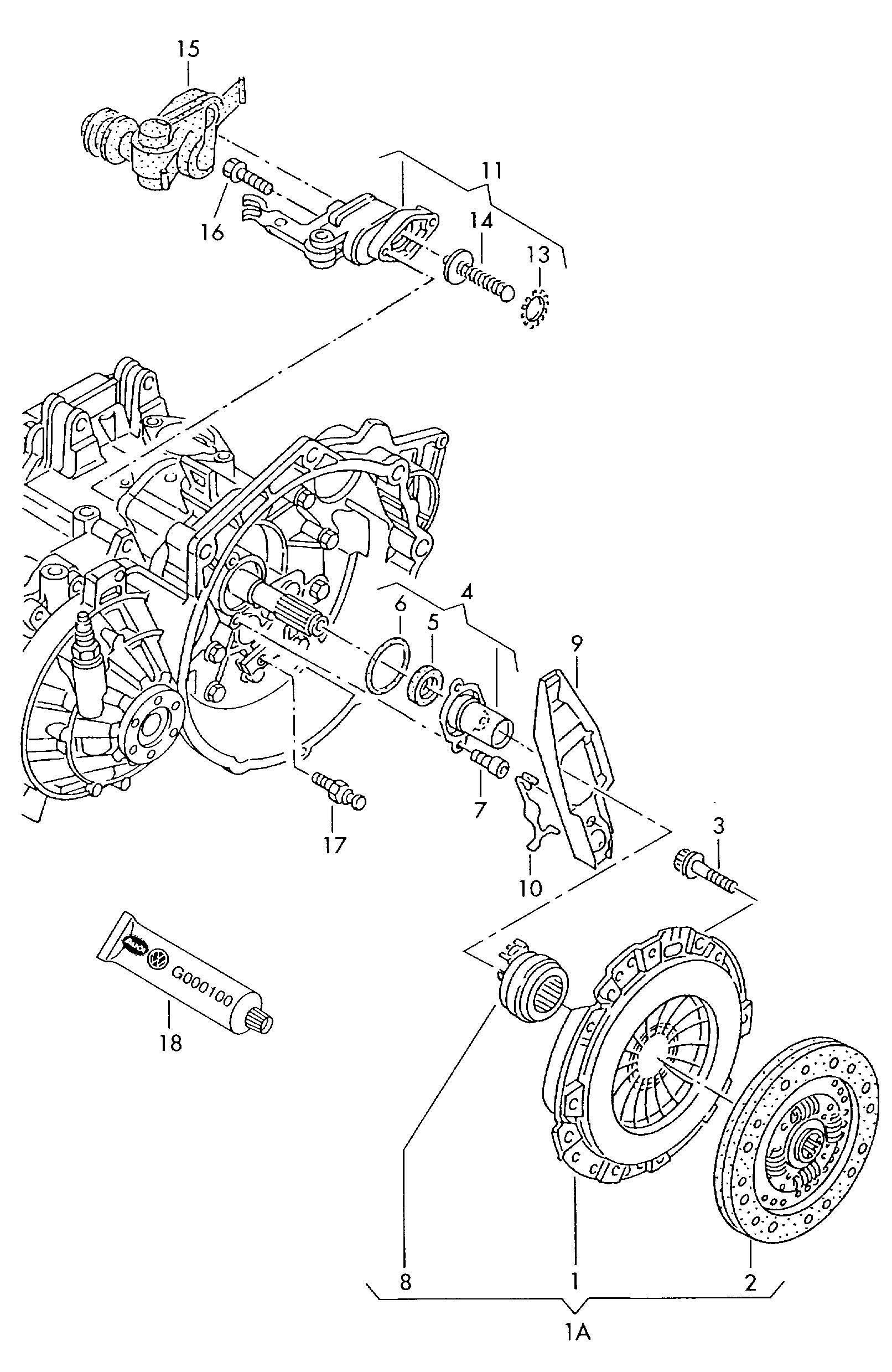 Volkswagen Eurovan Bracket For Mechanical Clutch Operation