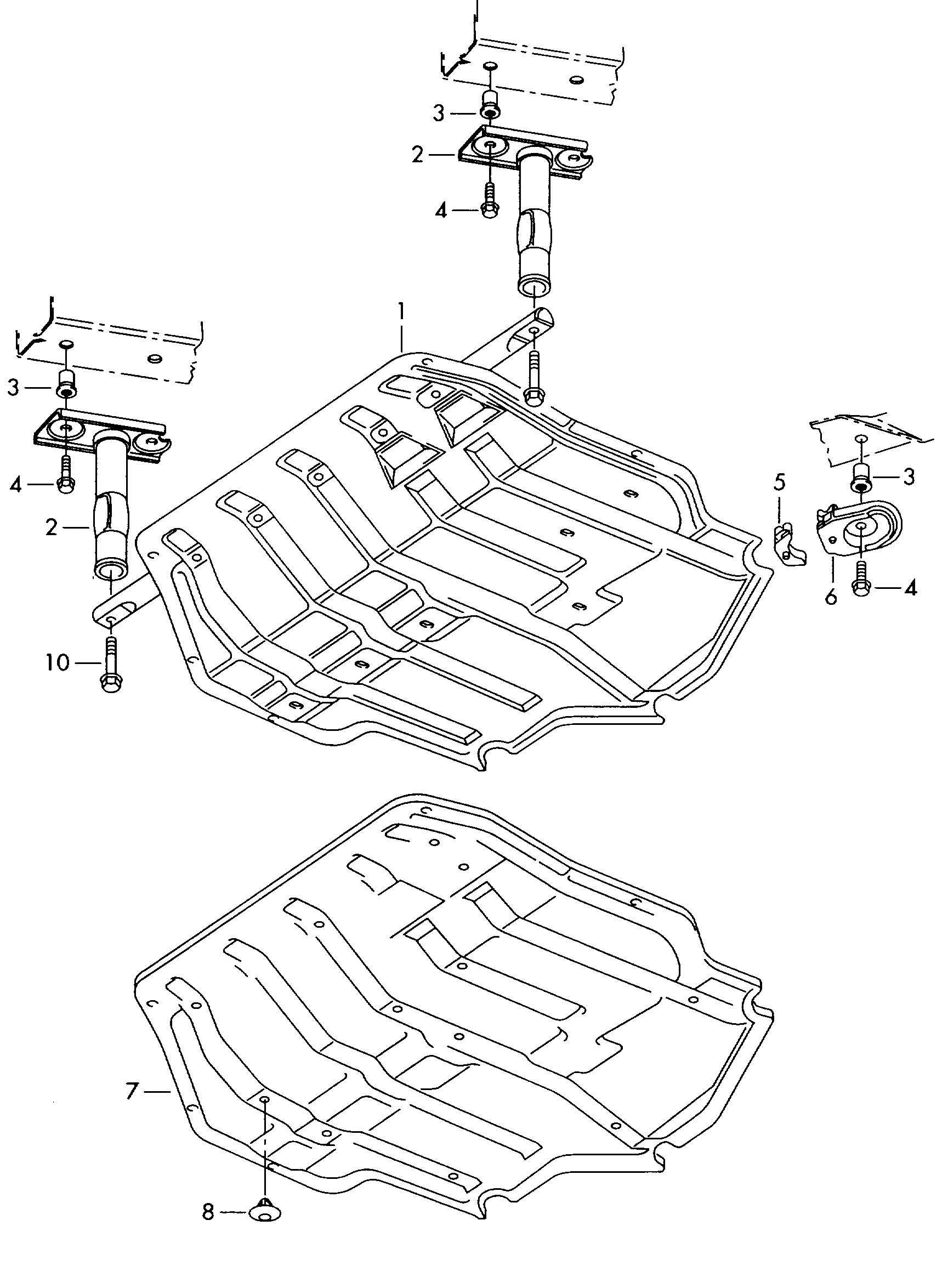 Volkswagen Golf 6 Mt 2 0l Skid Plate Under Body Protection Otto Engine Otto Engine Ottomotor