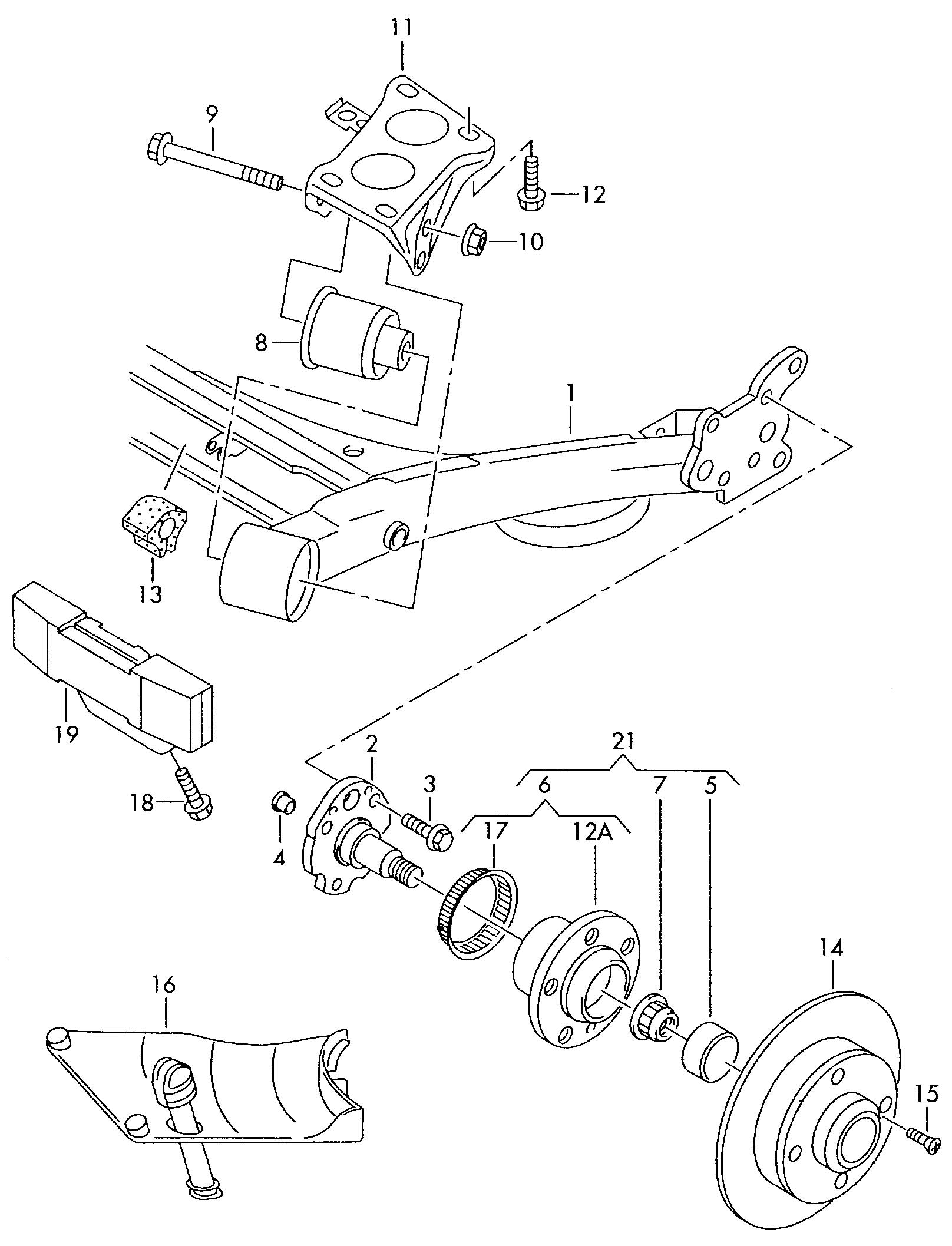 Volkswagen Jetta Comprising Wheel Bearing With Mounting