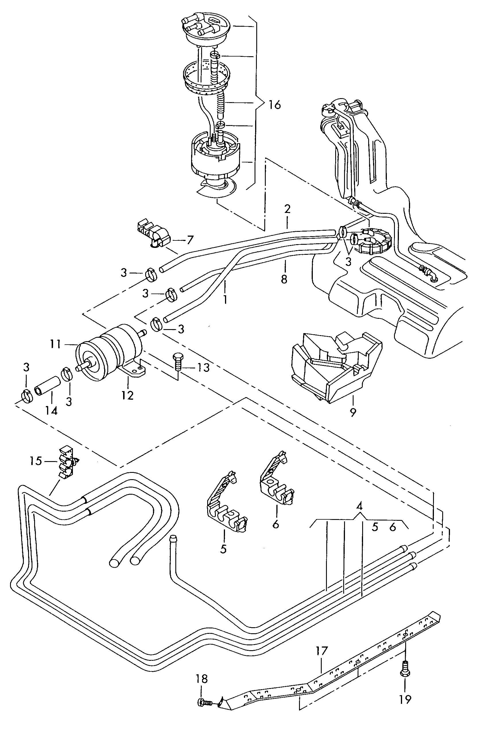 Volkswagen Passat Fuel Line Fuel Filter