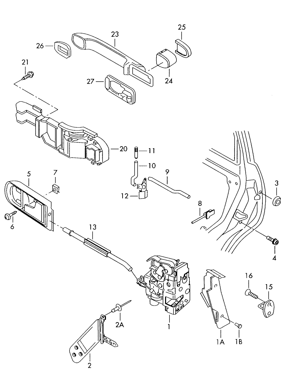 Vw touareg door handle on 1976 vw beetle wiring diagram