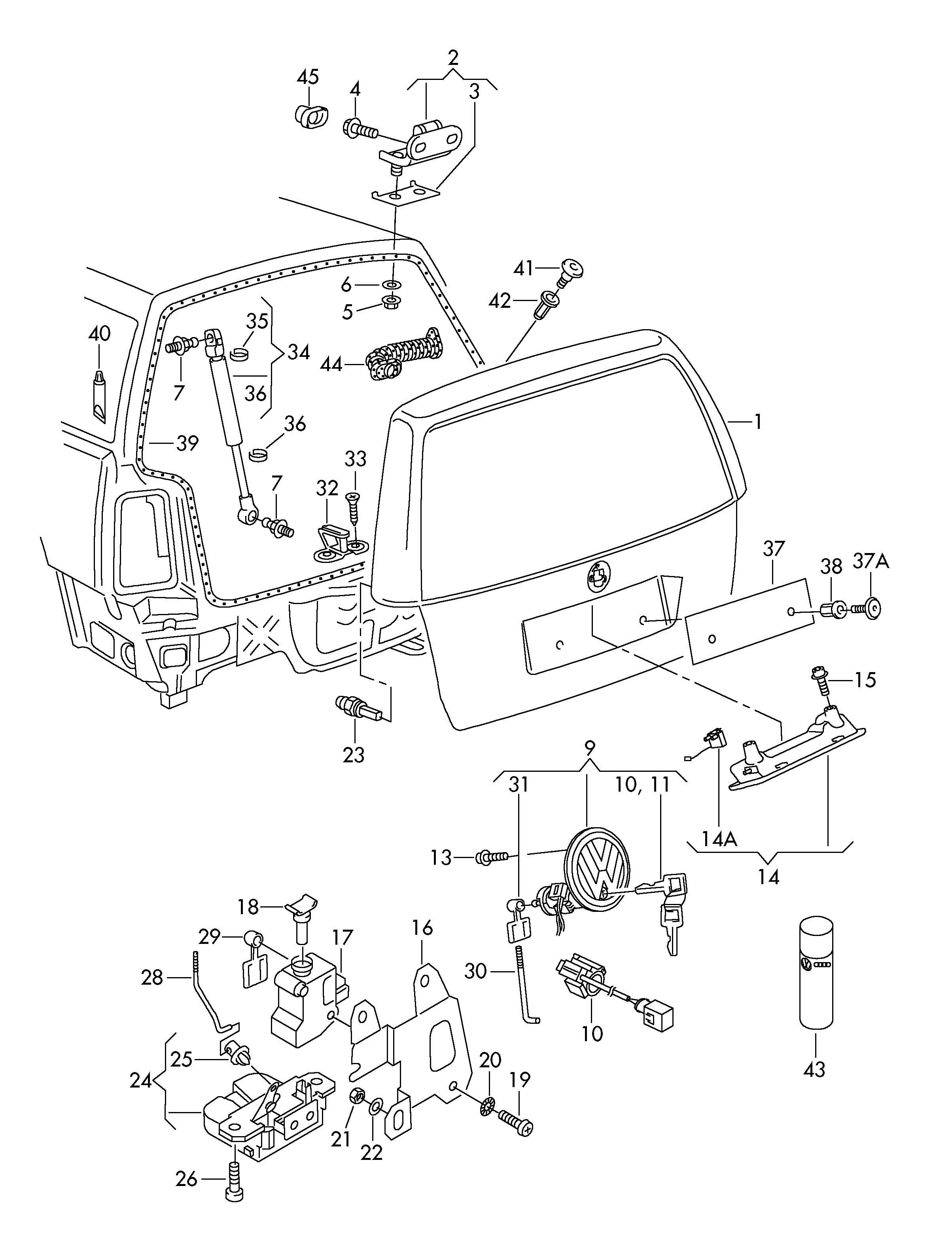 Vw Jetta Body Parts Diagram