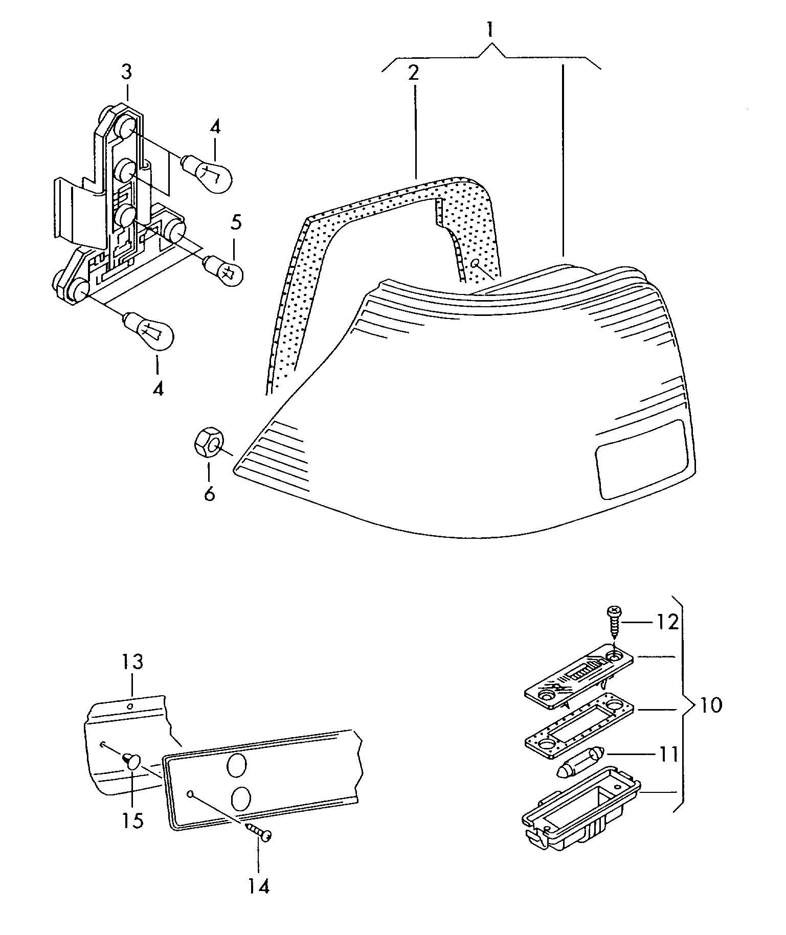 Volkswagen Jetta 1 9l Tdi Tail Light Assembly Accent