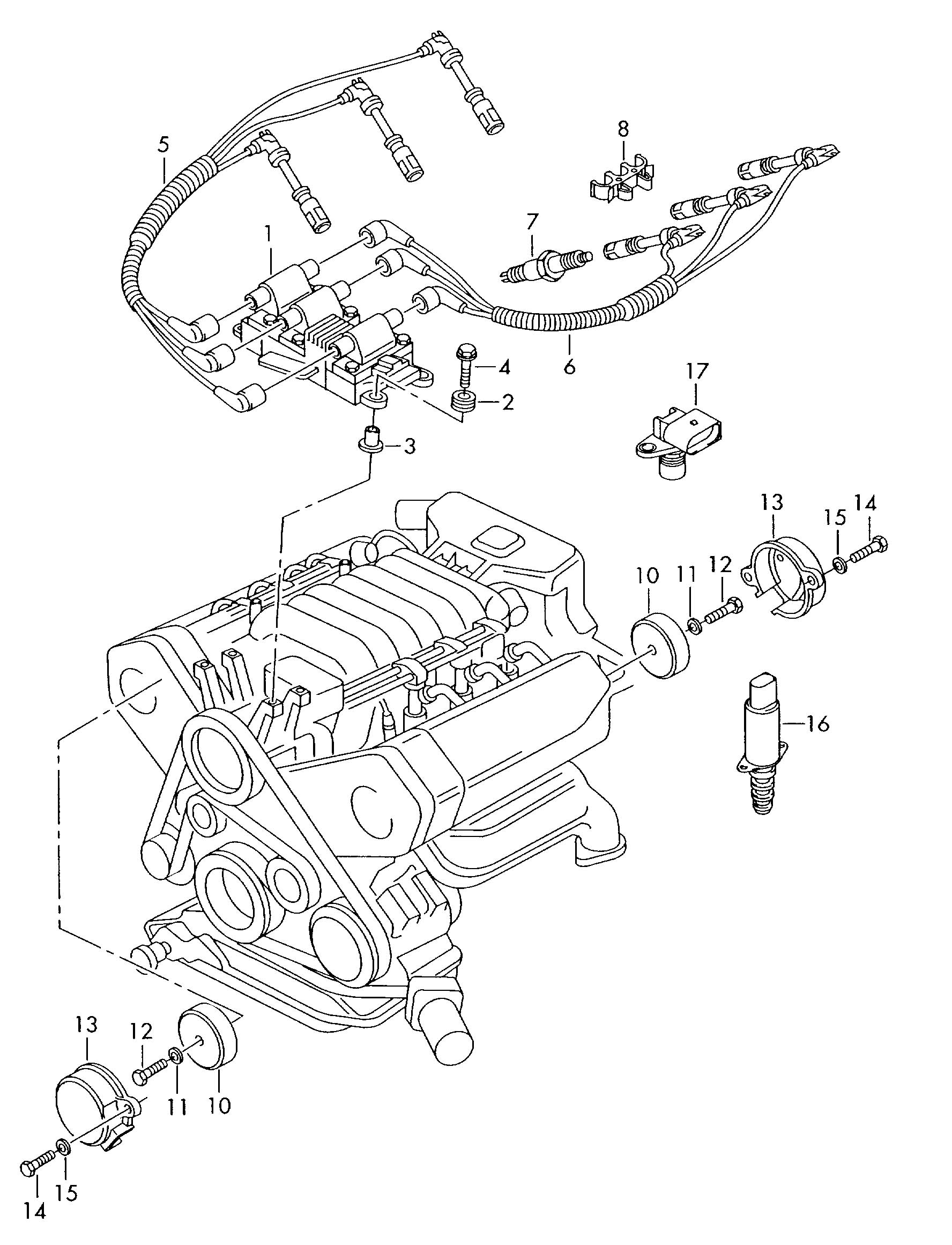 Volkswagen Passat Ignition Coil With Spark Plug Connector