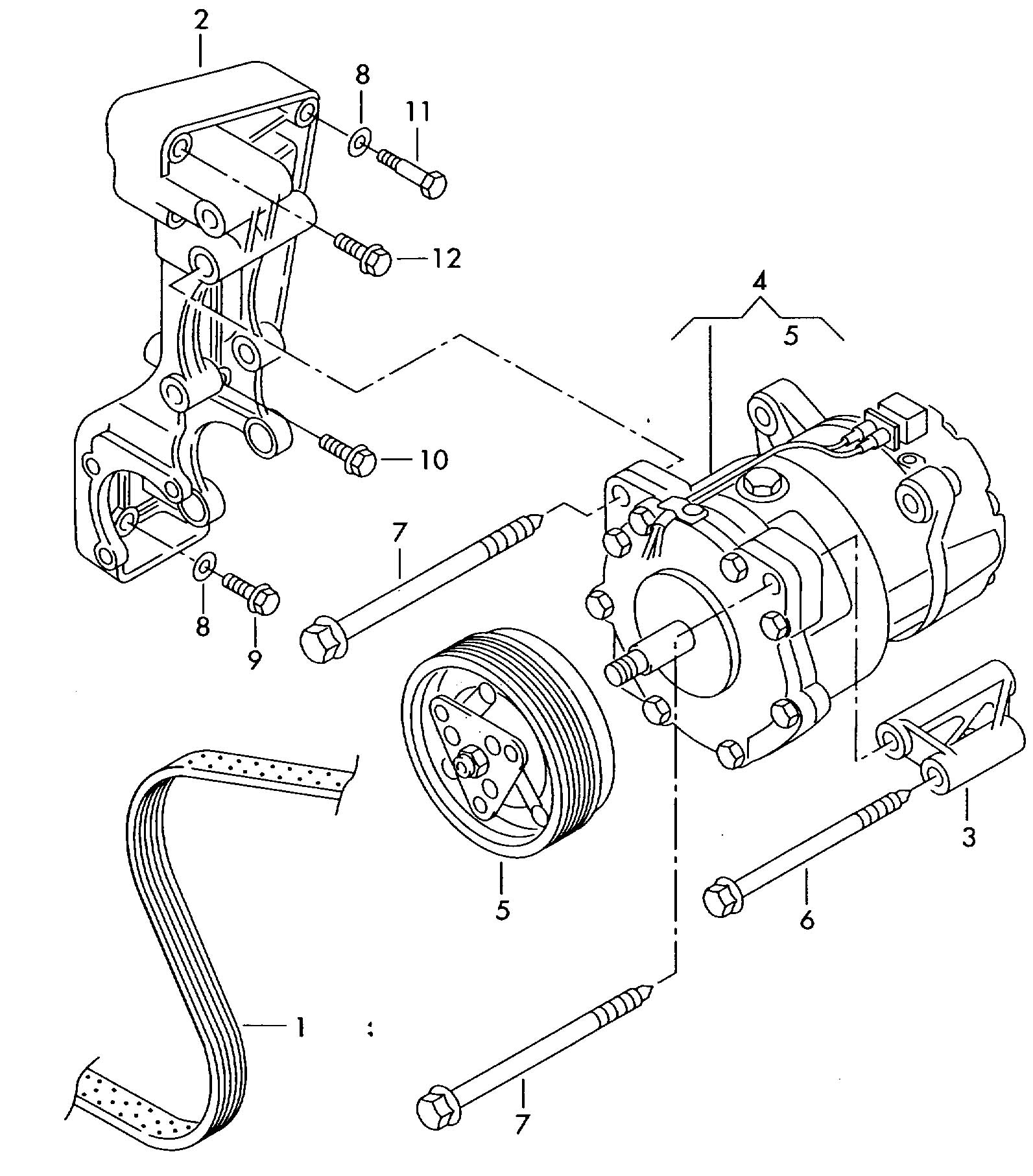 Volkswagen Eurovan V Belt Double Ribbed With A C