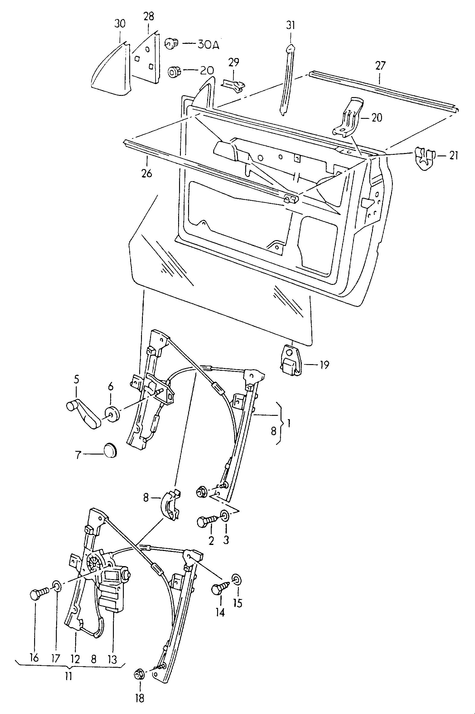 99 Vw Cabrio Window Regulator