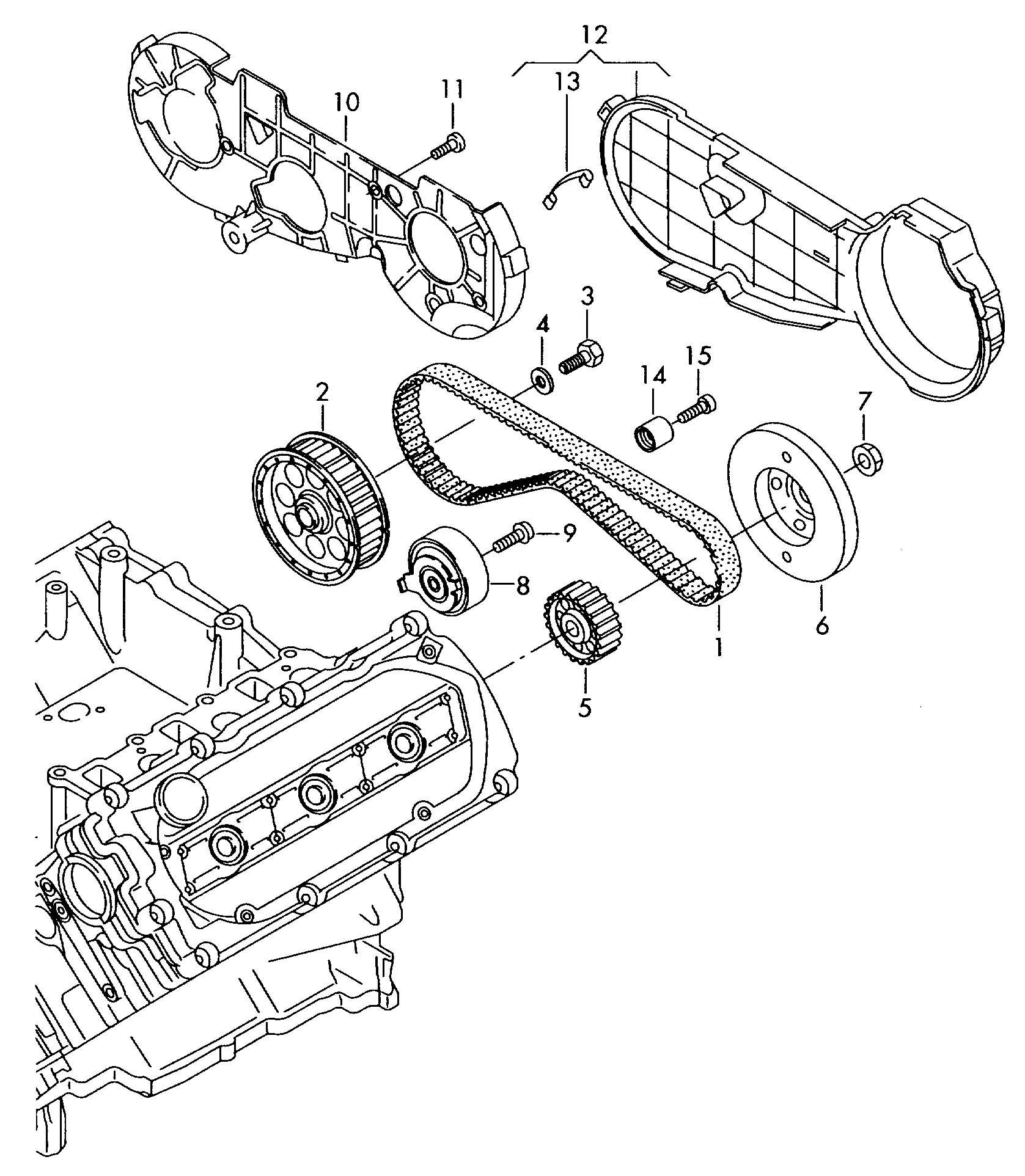 Volkswagen Touareg Belt Toothed Drive Belt Spur
