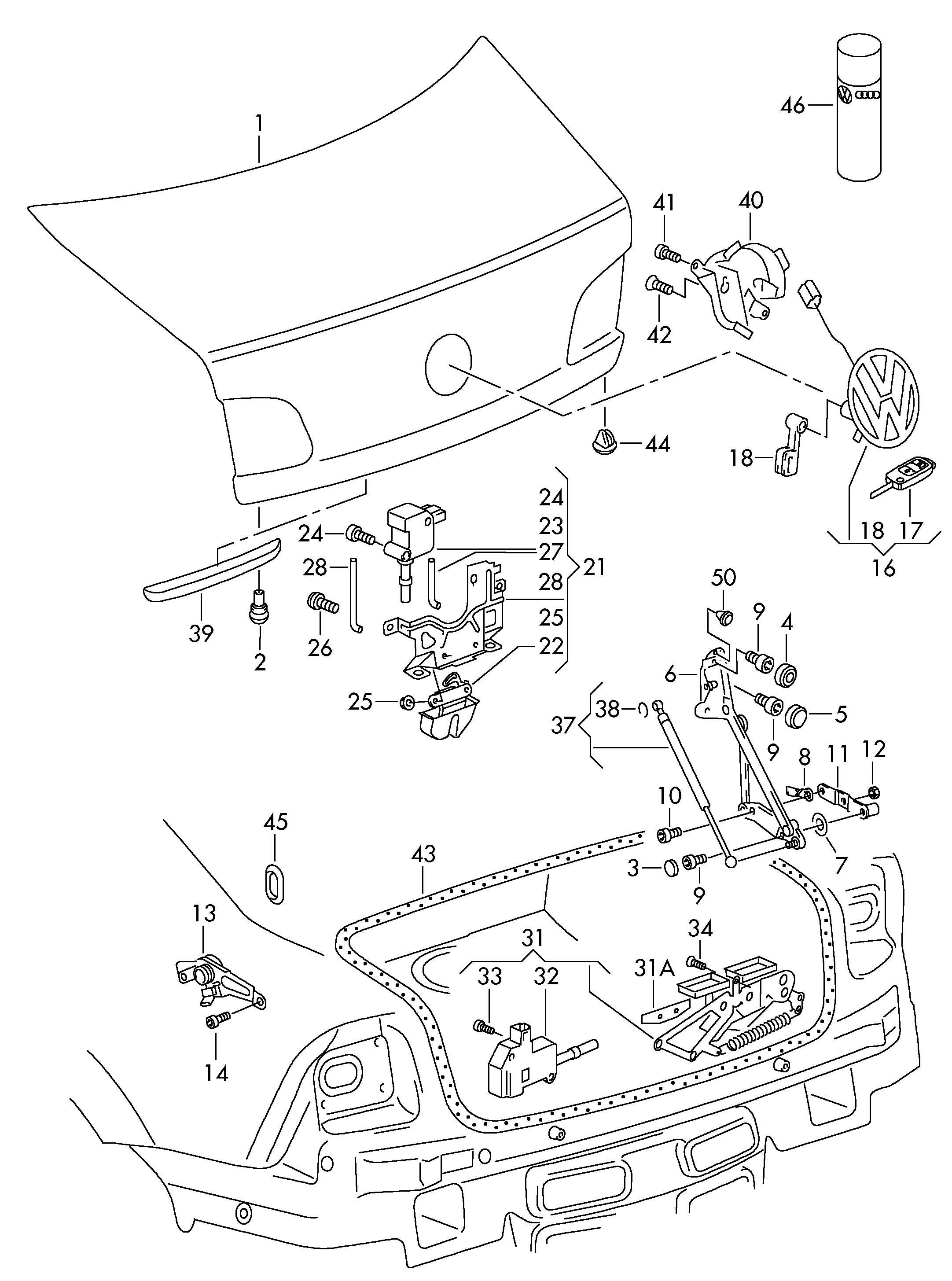 Volkswagen Jetta Rear Trunk Lid Trunk Latch