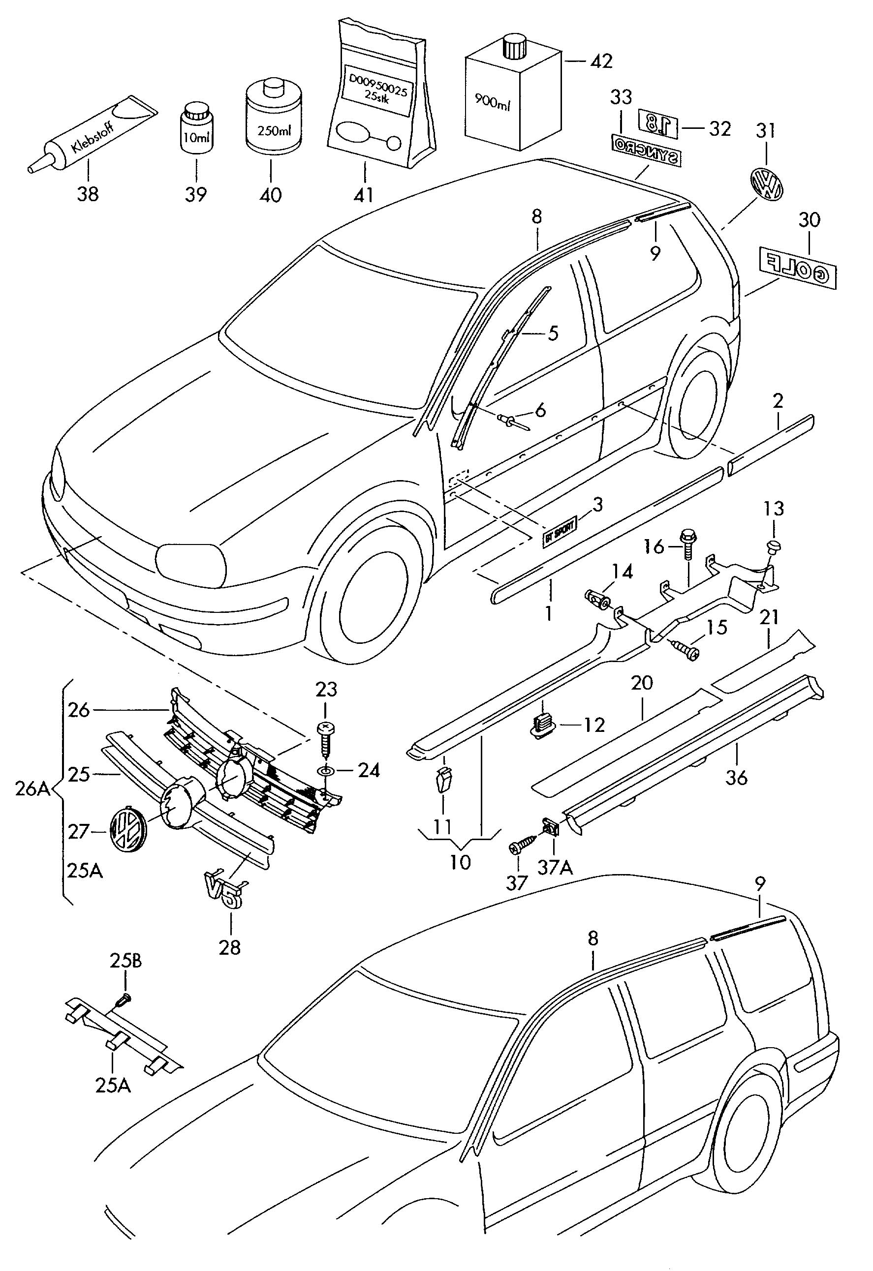 Volkswagen Golf Chrome Silver