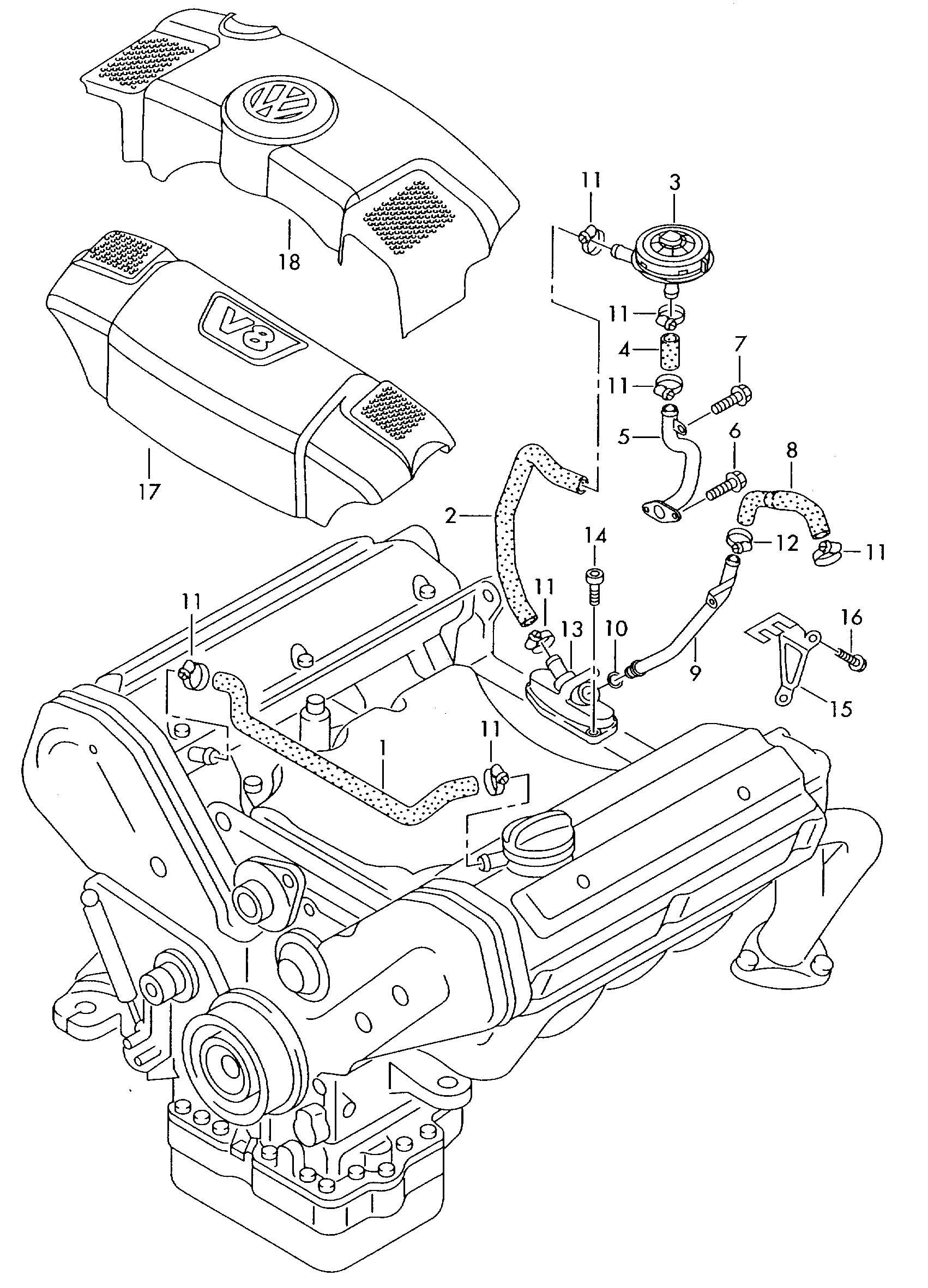 Volkswagen Vw Phaeton Ventilation For Cylinder Block