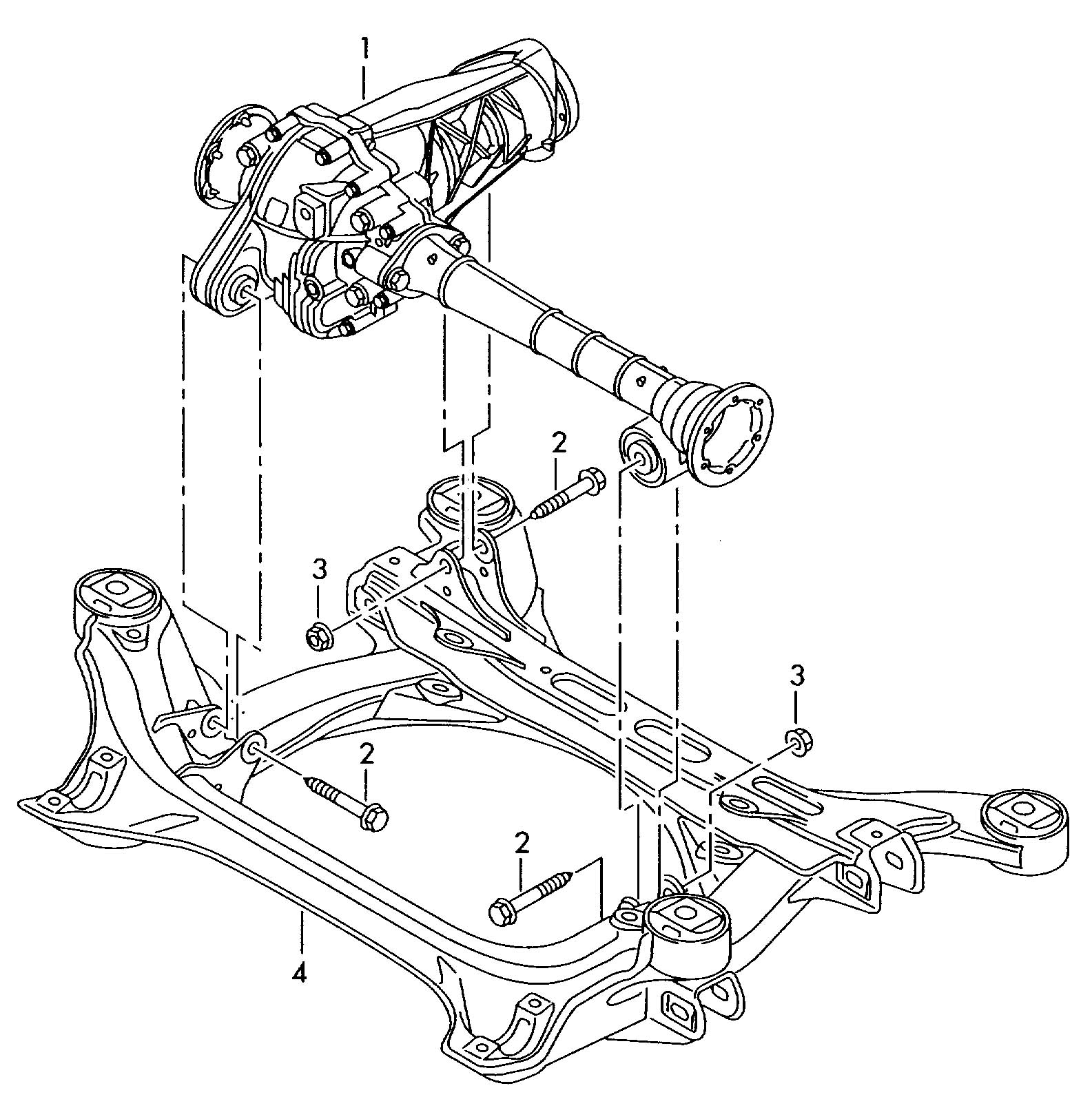 Volkswagen Touareg Front Axle Differential Also Use
