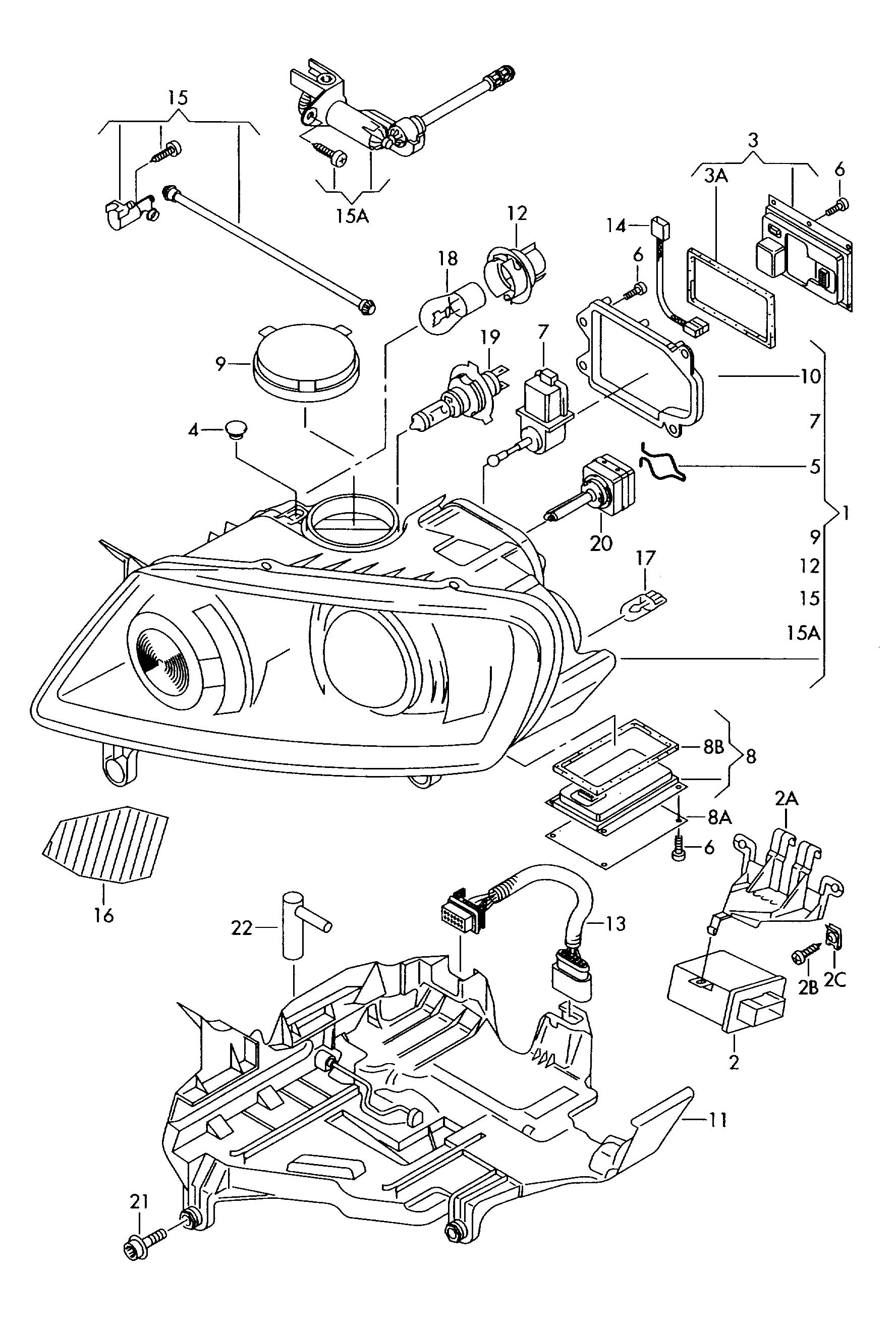 Volkswagen Touareg Range Control Adjustment Motor