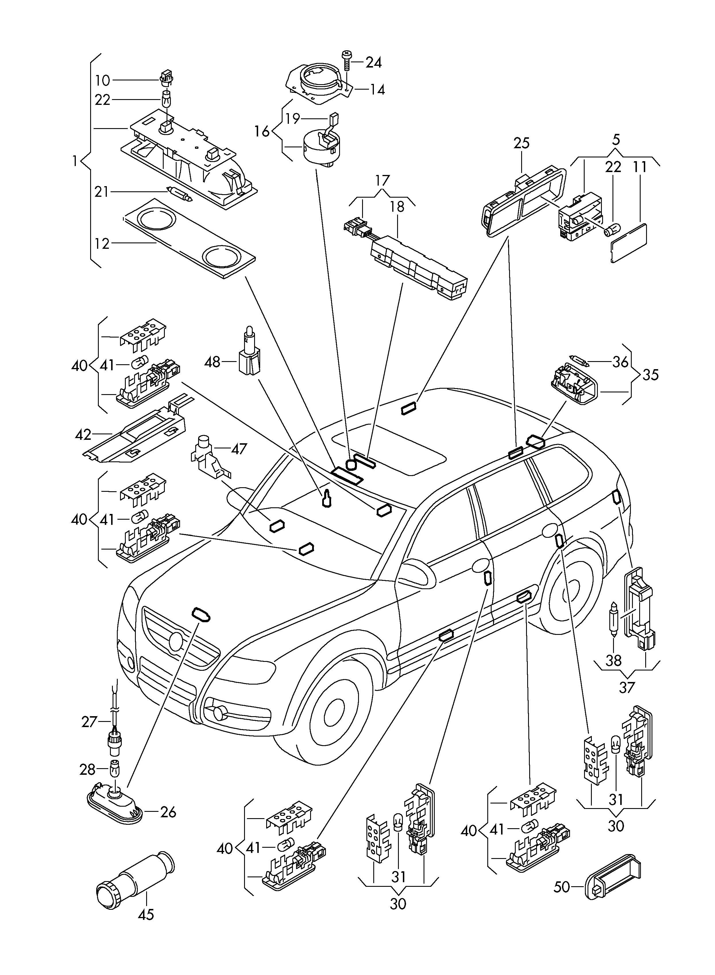 Volkswagen Touareg 3 6l 6 Cylinder Switch Hand Brake Lever