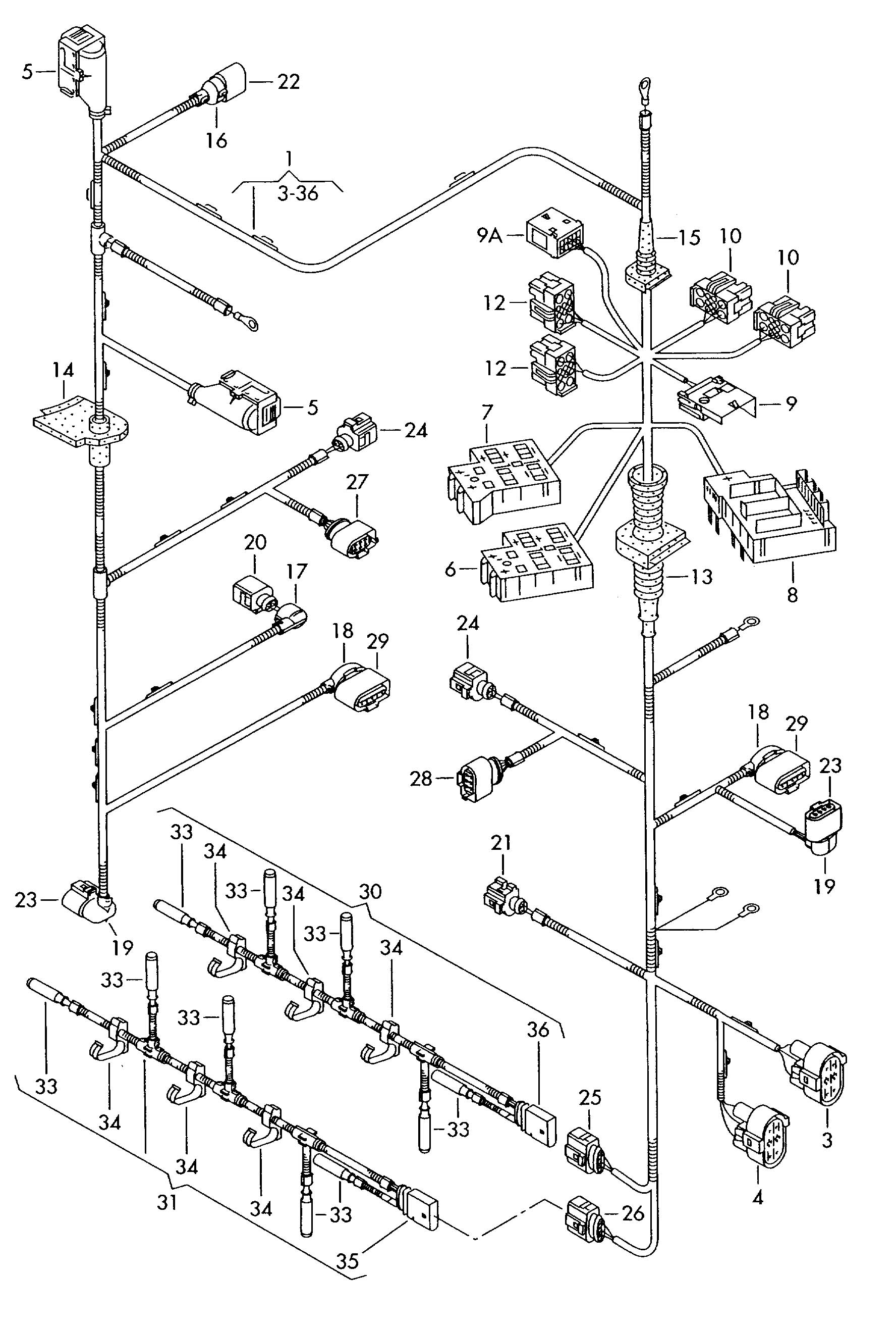 Volkswagen Touareg Harness For Engine Compartment