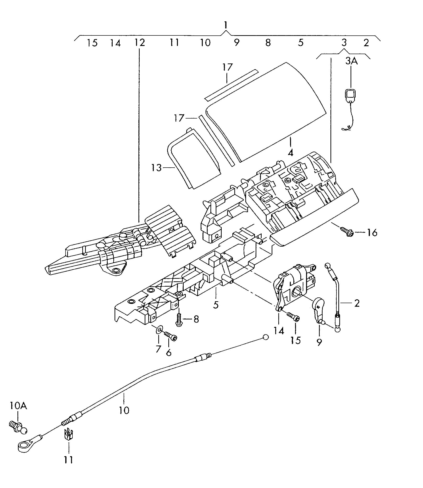 Volkswagen New Beetle Convertible Conv Top Hinge Cover For Vehicles With Hydraulic Top Operation