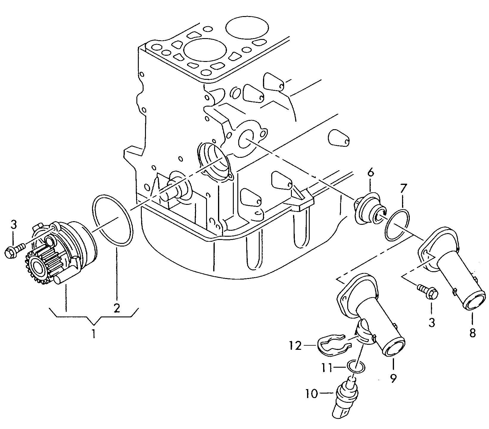Volkswagen Passat 4 0l W8 8 Cylinder Water Pump With