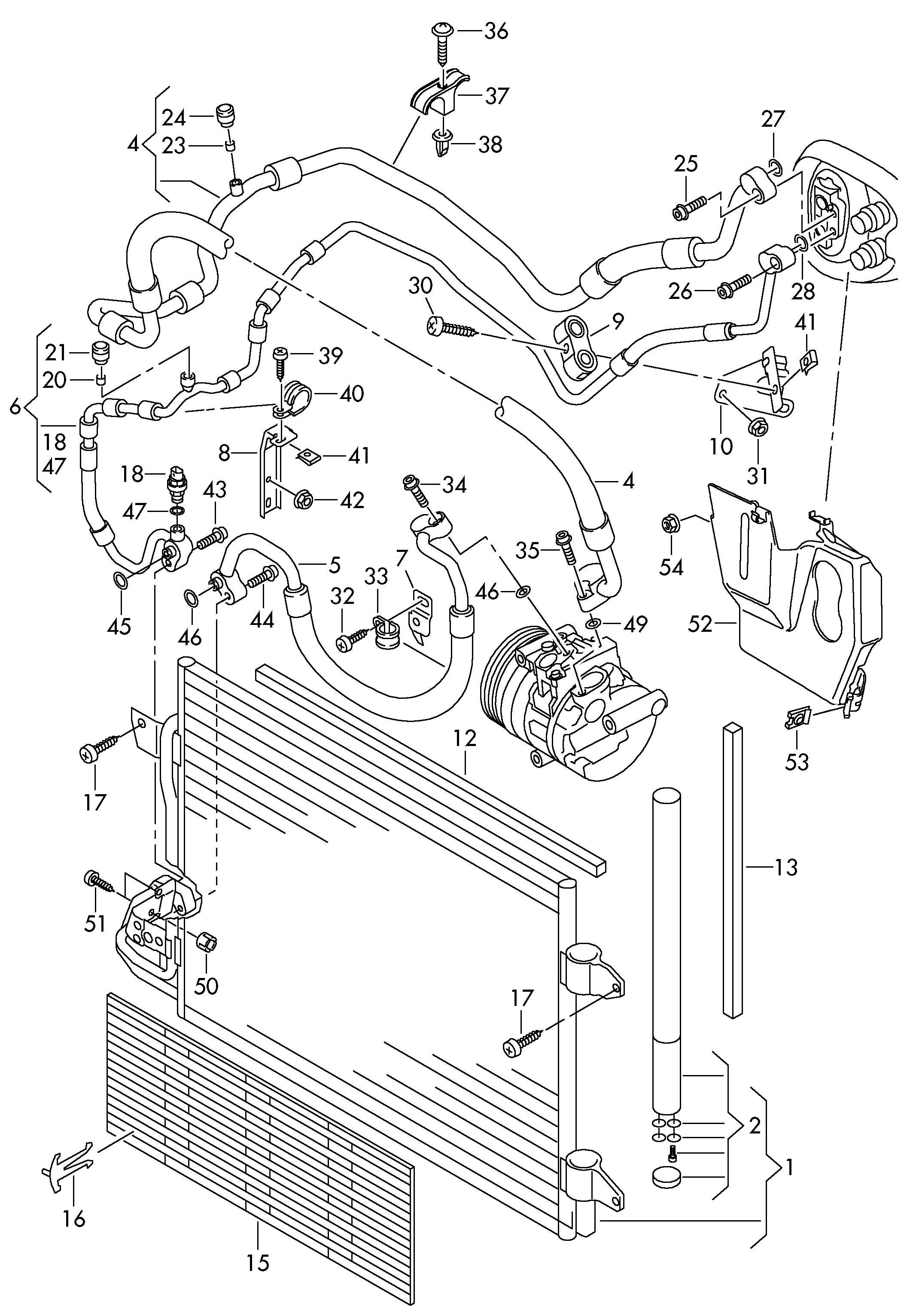 Volkswagen Jetta 2 5l 5 Cylinder Refrigerant Line Air