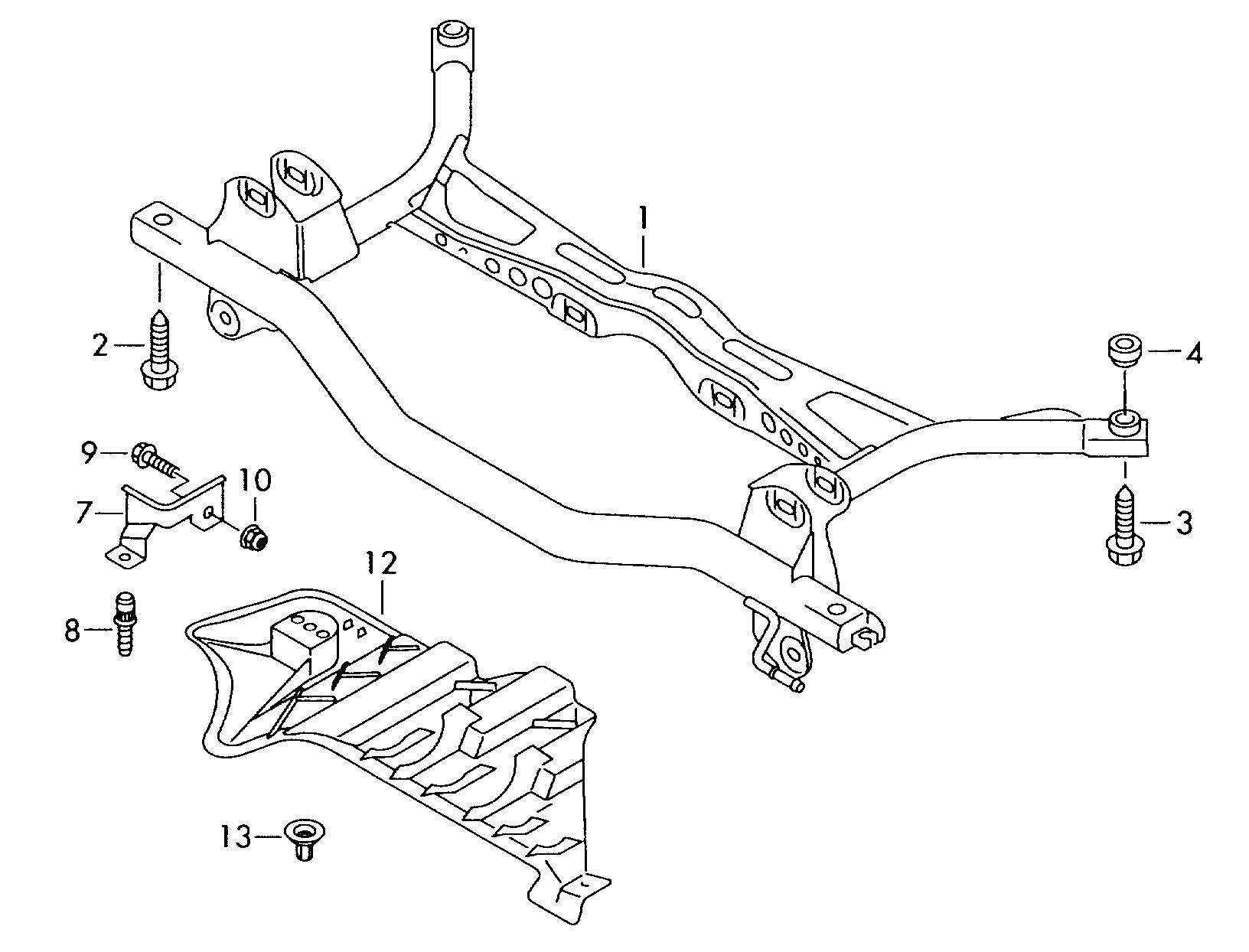 Volkswagen Golf Rear Axle Beam Sub Frame Rear