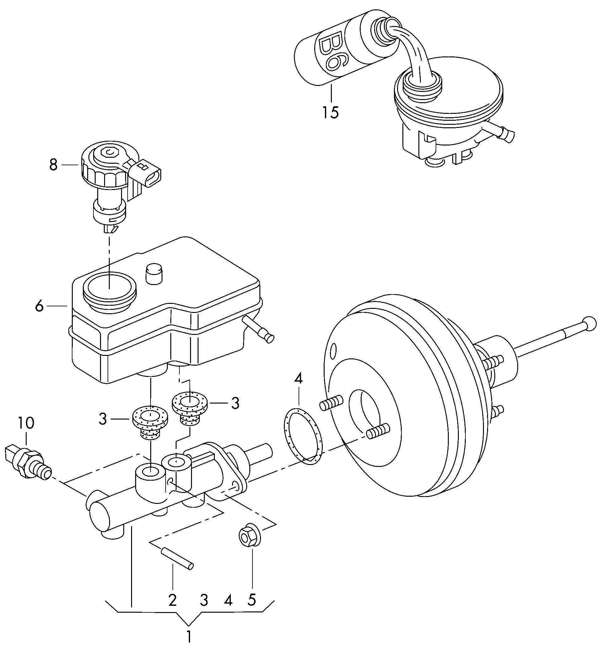 Volkswagen Brake Fluid Brake Master Cylinder Reservoir