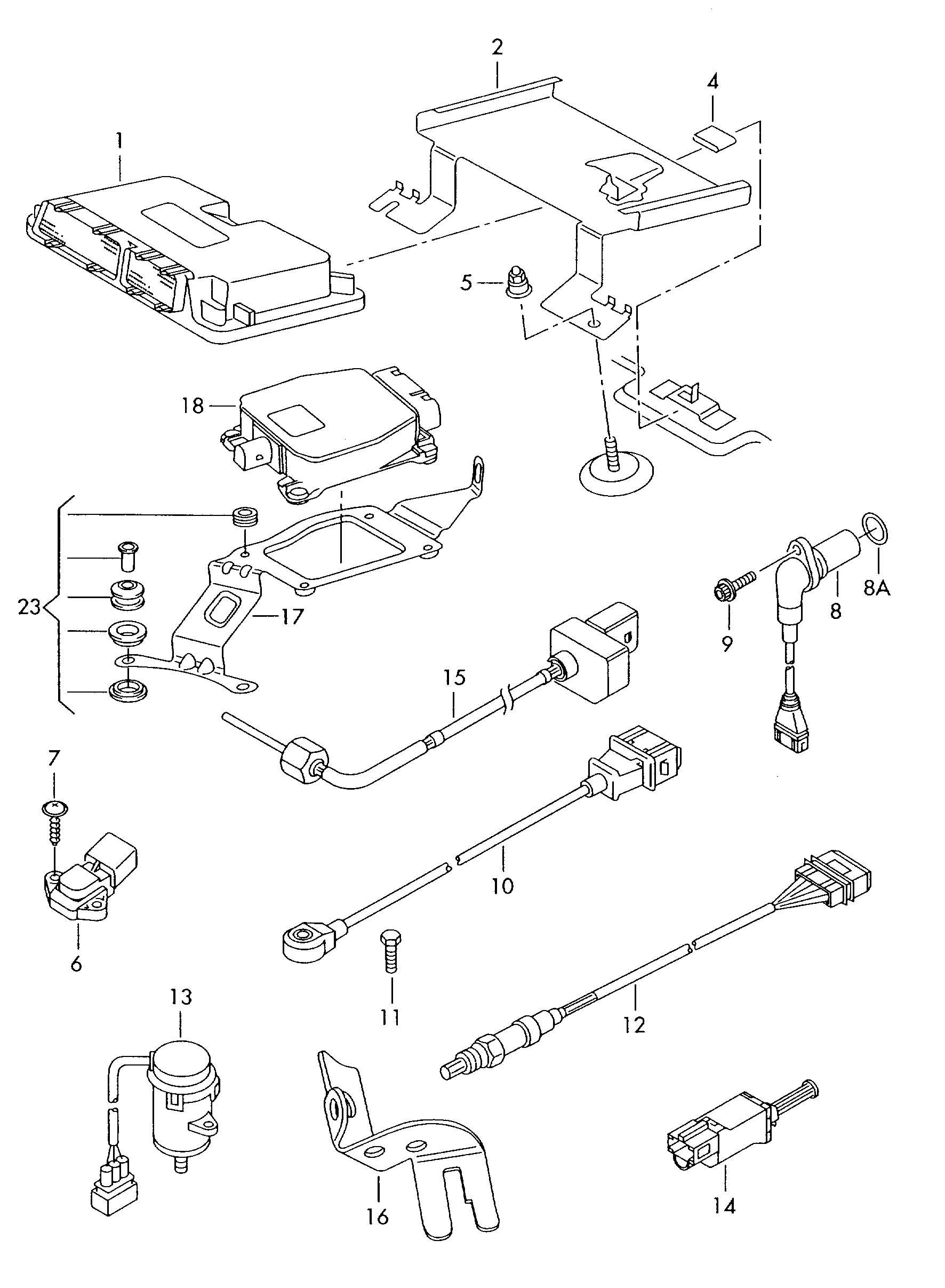 Volkswagen Tiguan Pressure Sensor Fuel Rail Fuel