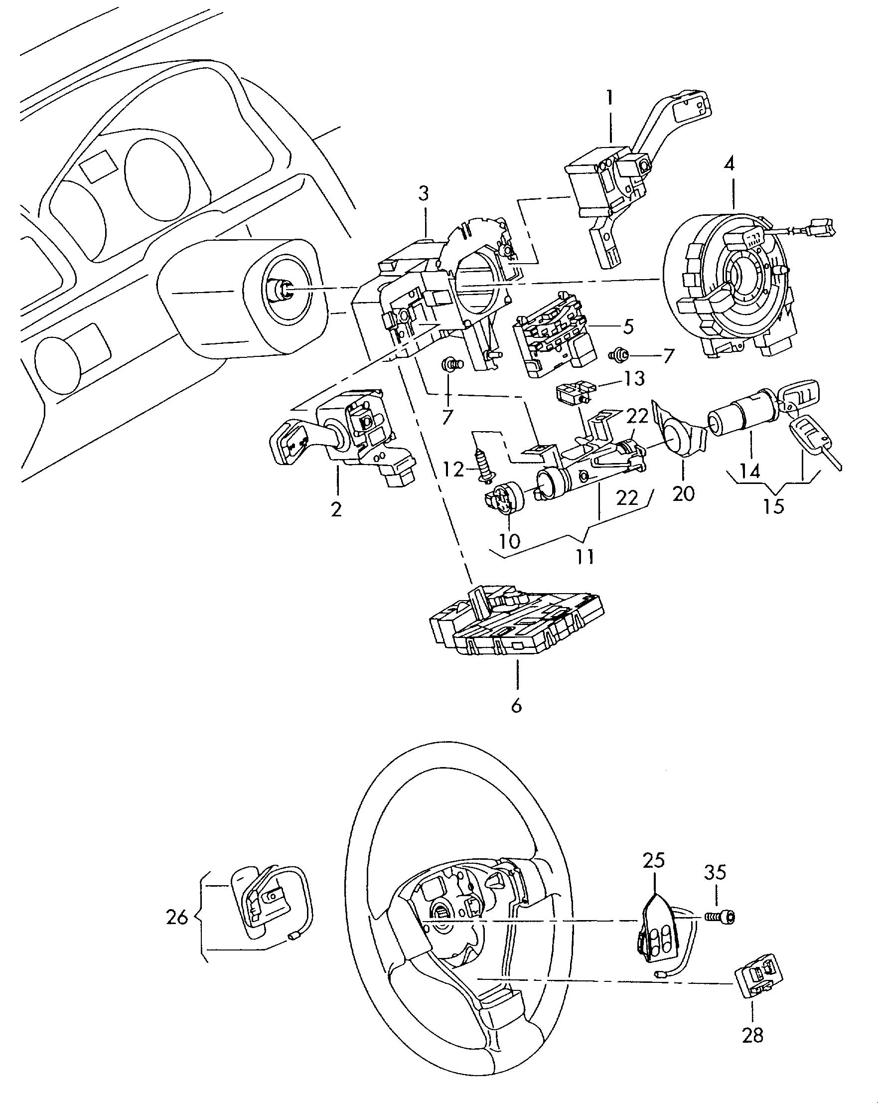 Volkswagen Tiguan Steering Column Lock With Ignition