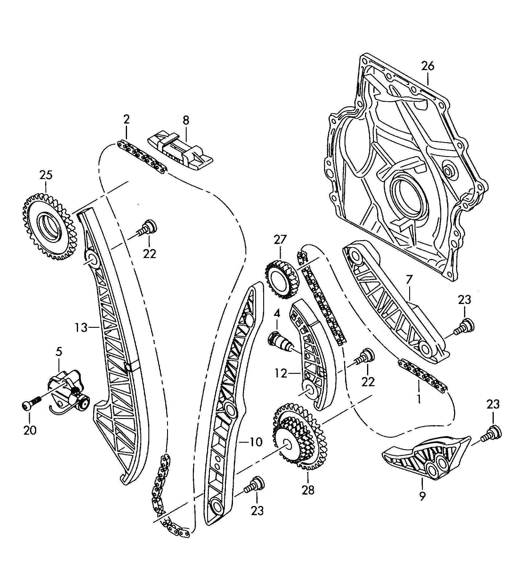 Volkswagen Passat Guide Rail Guide Piece Primary