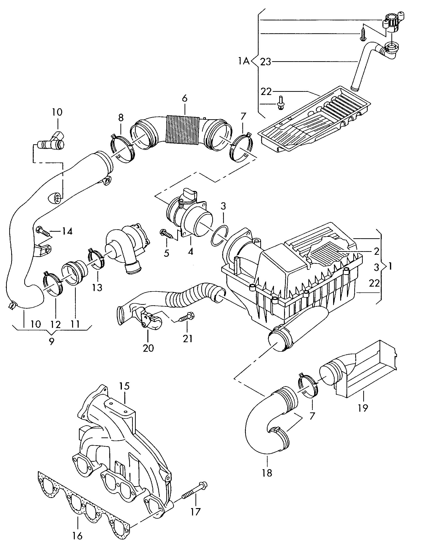 Volkswagen Jetta Intake Pipe For Vehicle Use In Cold