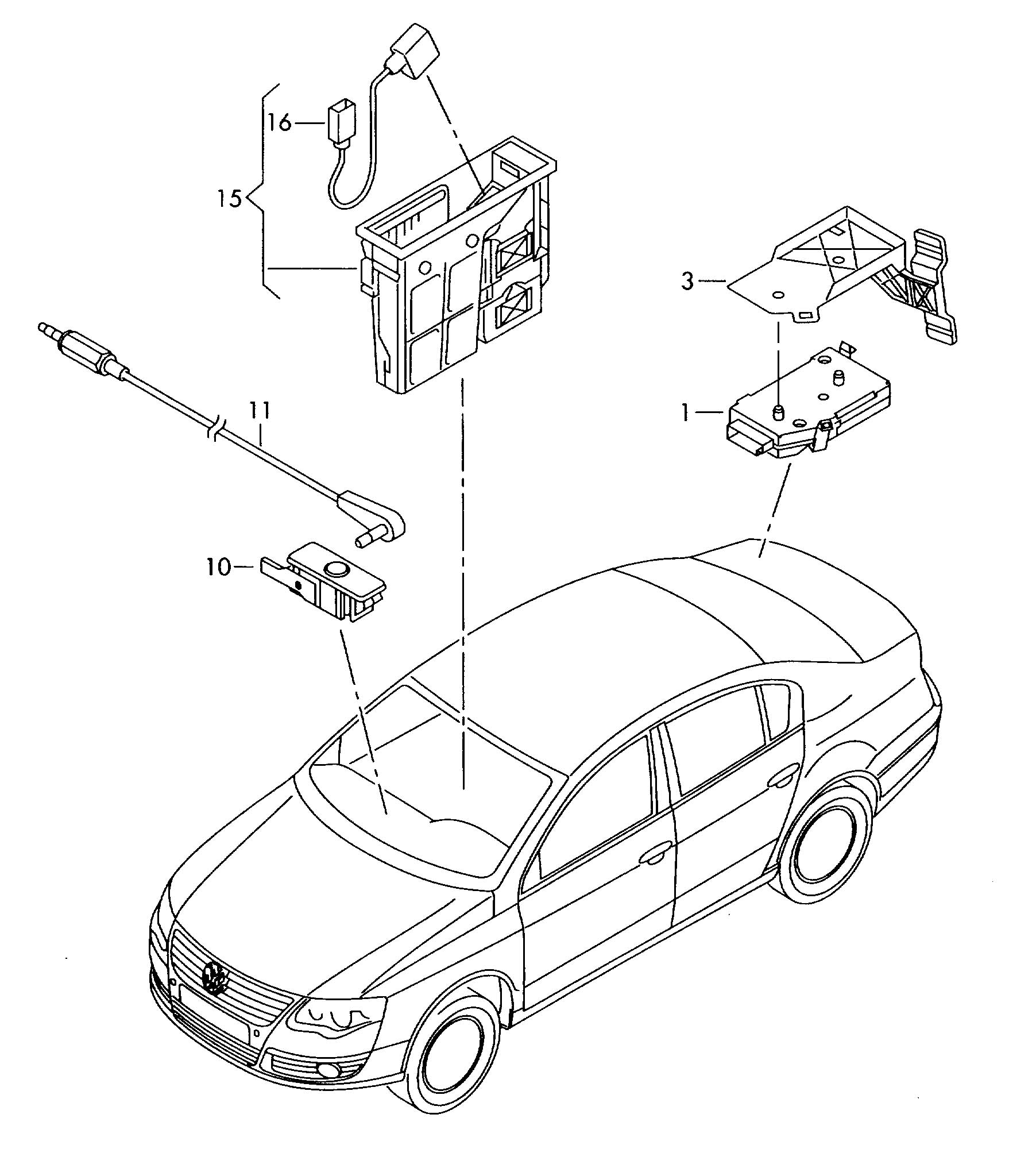 Volkswagen Electrical Parts For Blind Cover Magnetic Field
