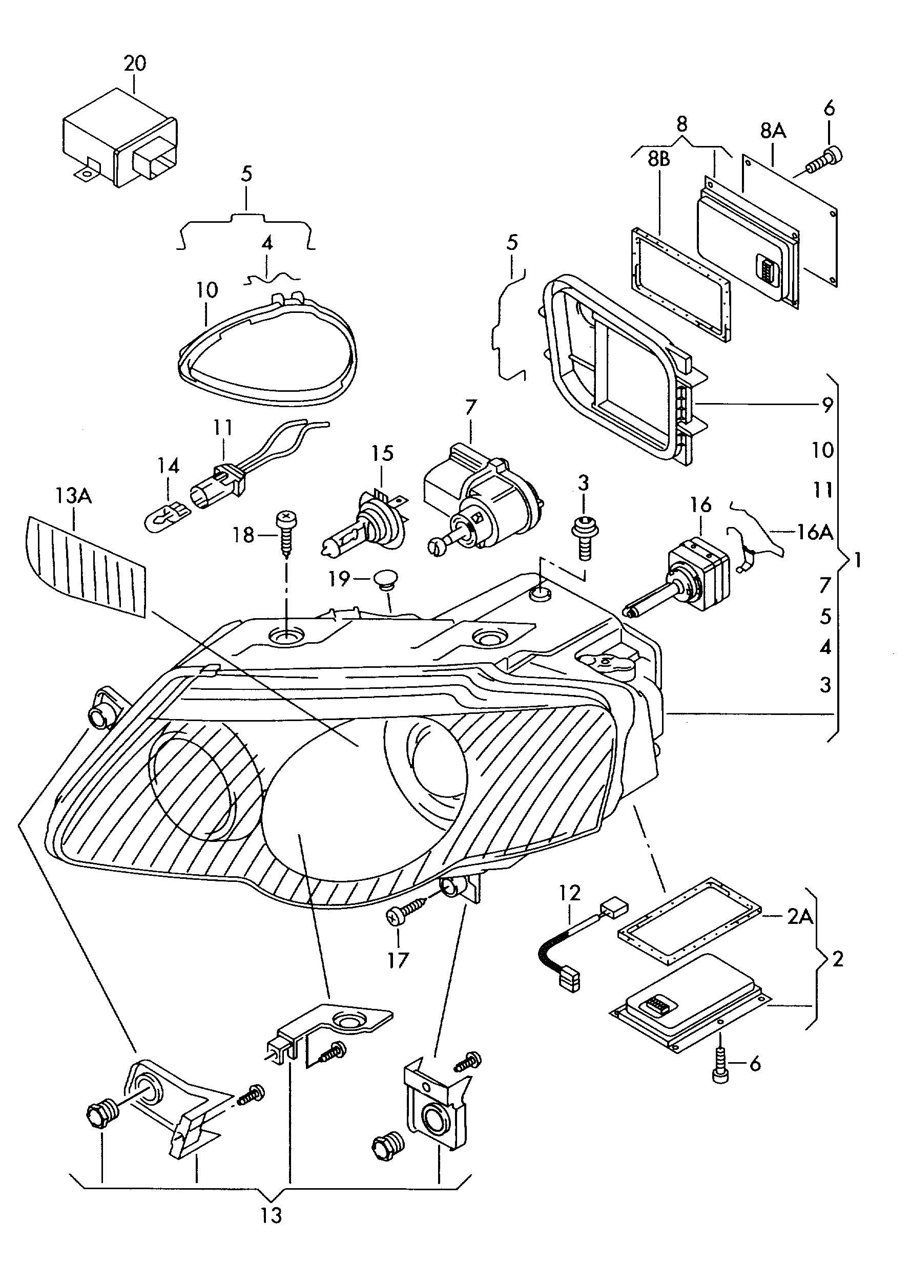 Xenon Birnen Halterung Feder Vw Audi Seat Skoda 3d A