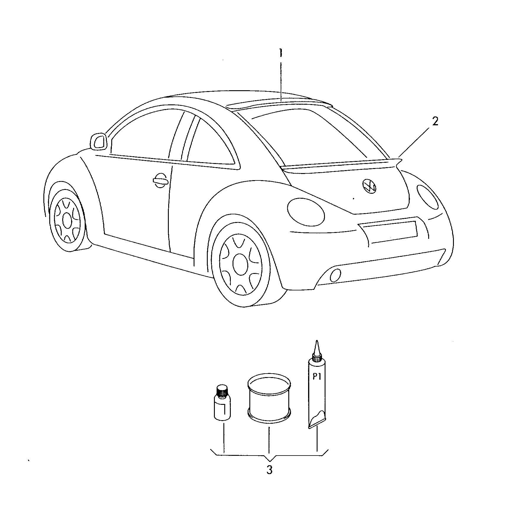 Volkswagen New Beetle Original Accessories Aerodynamic