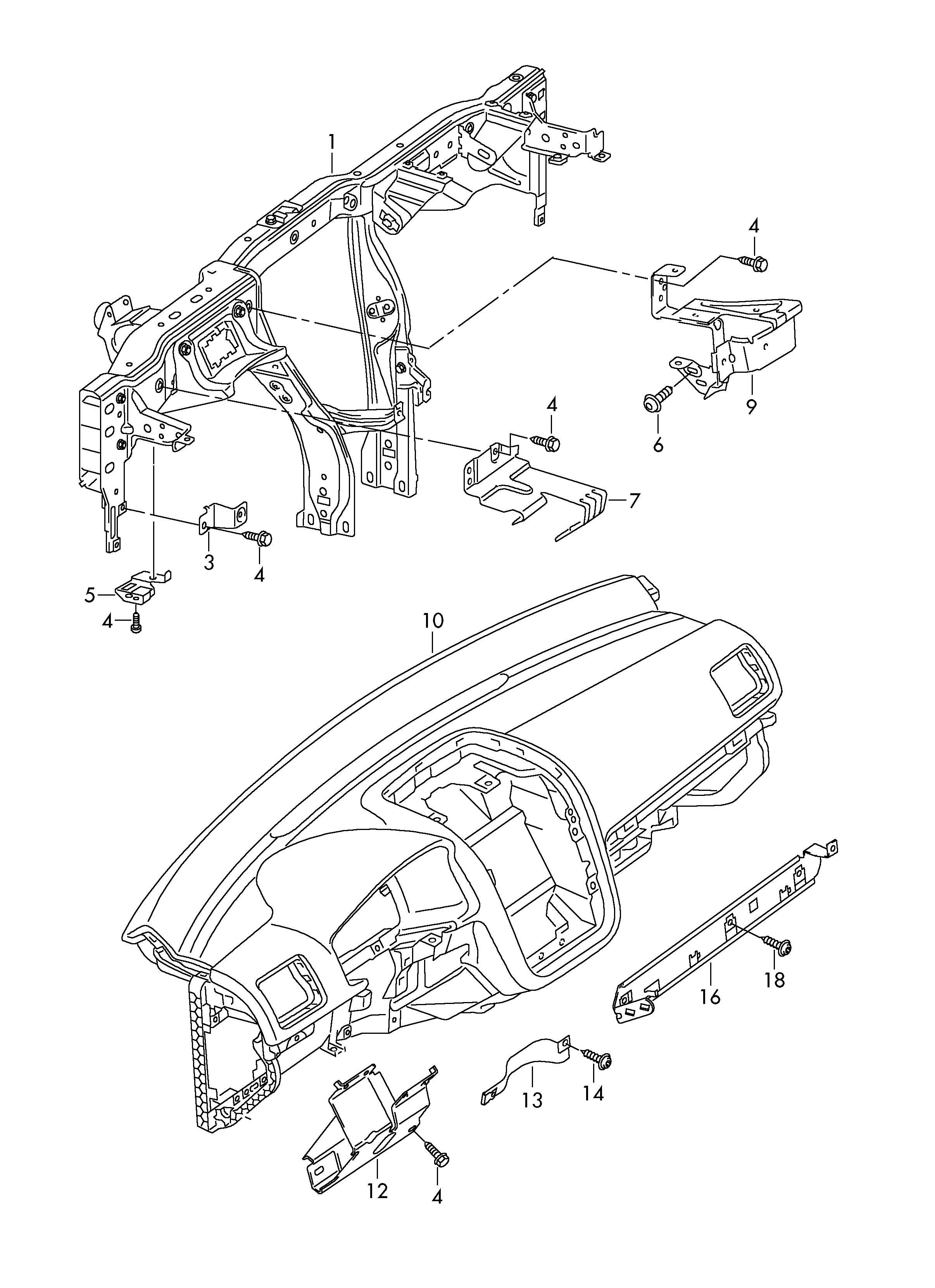 Volkswagen Golf Retaining Plate Deformation