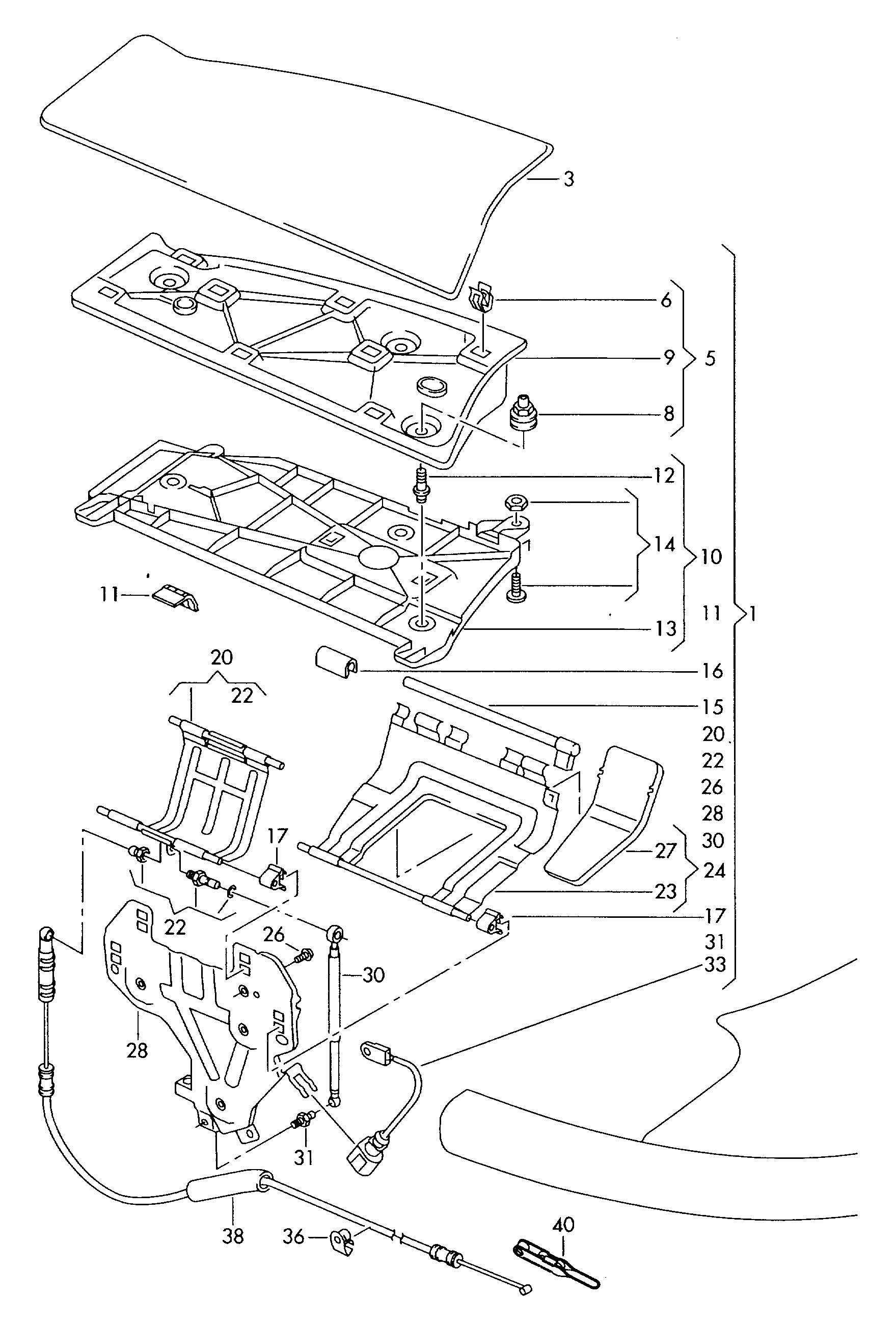 Volkswagen Eos Clip Brace