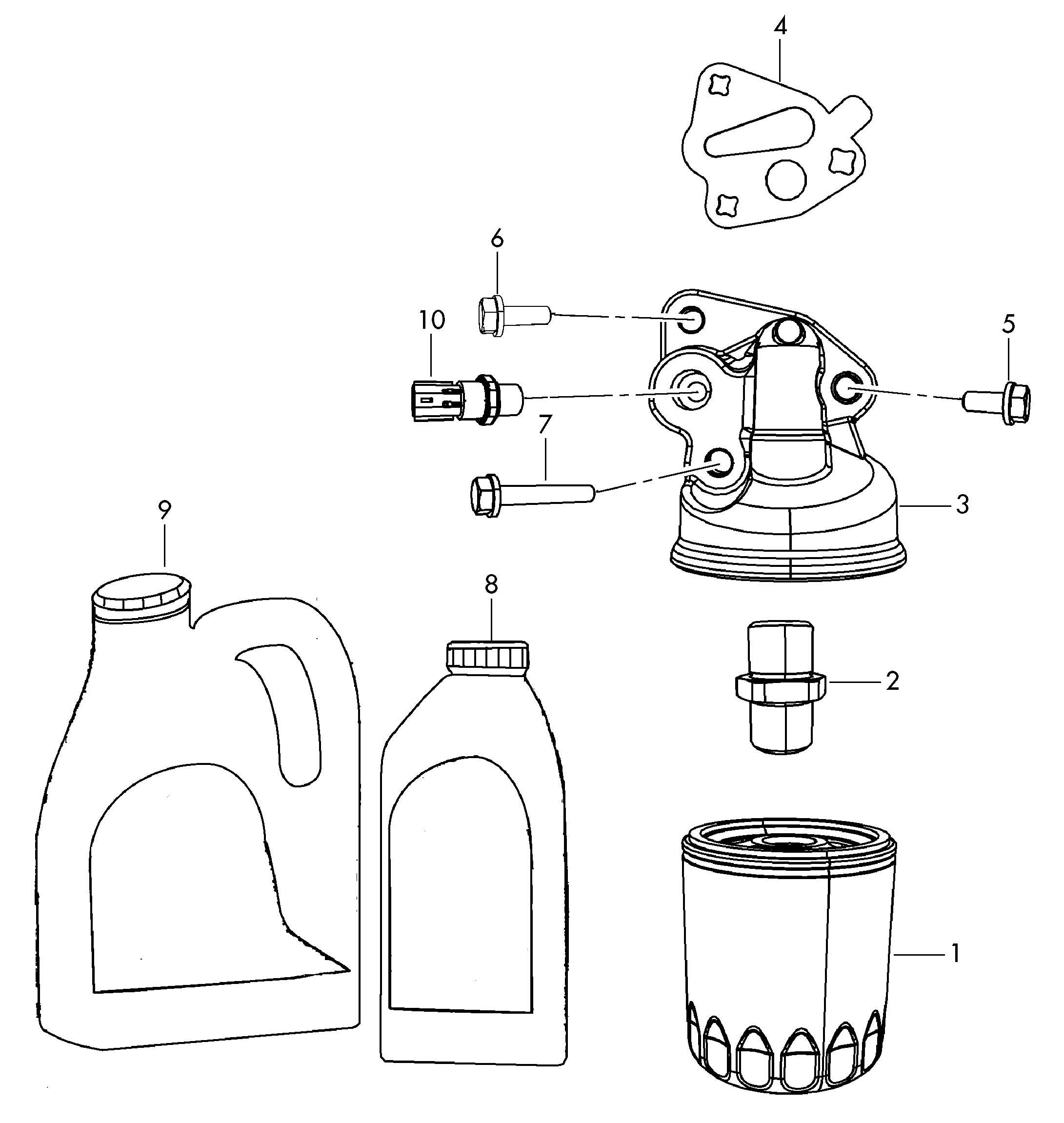 Volkswagen Routan Filter Oil Filters