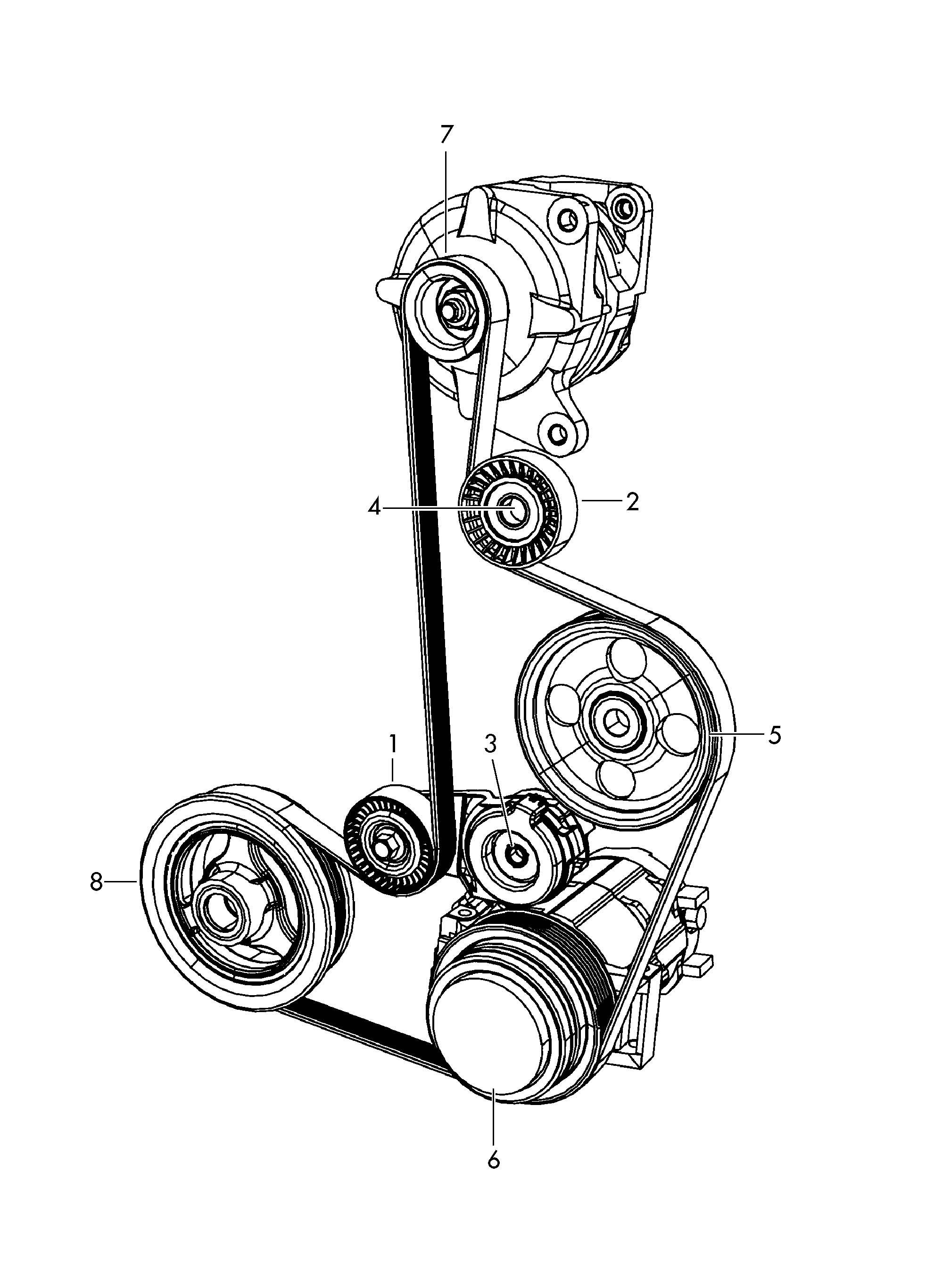 Volkswagen Routan V Ribbed Belt Pulley For Refrigerant