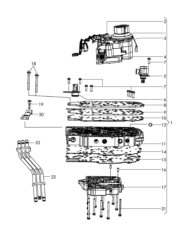 Volkswagen Routan Valve Body Transmission Valve