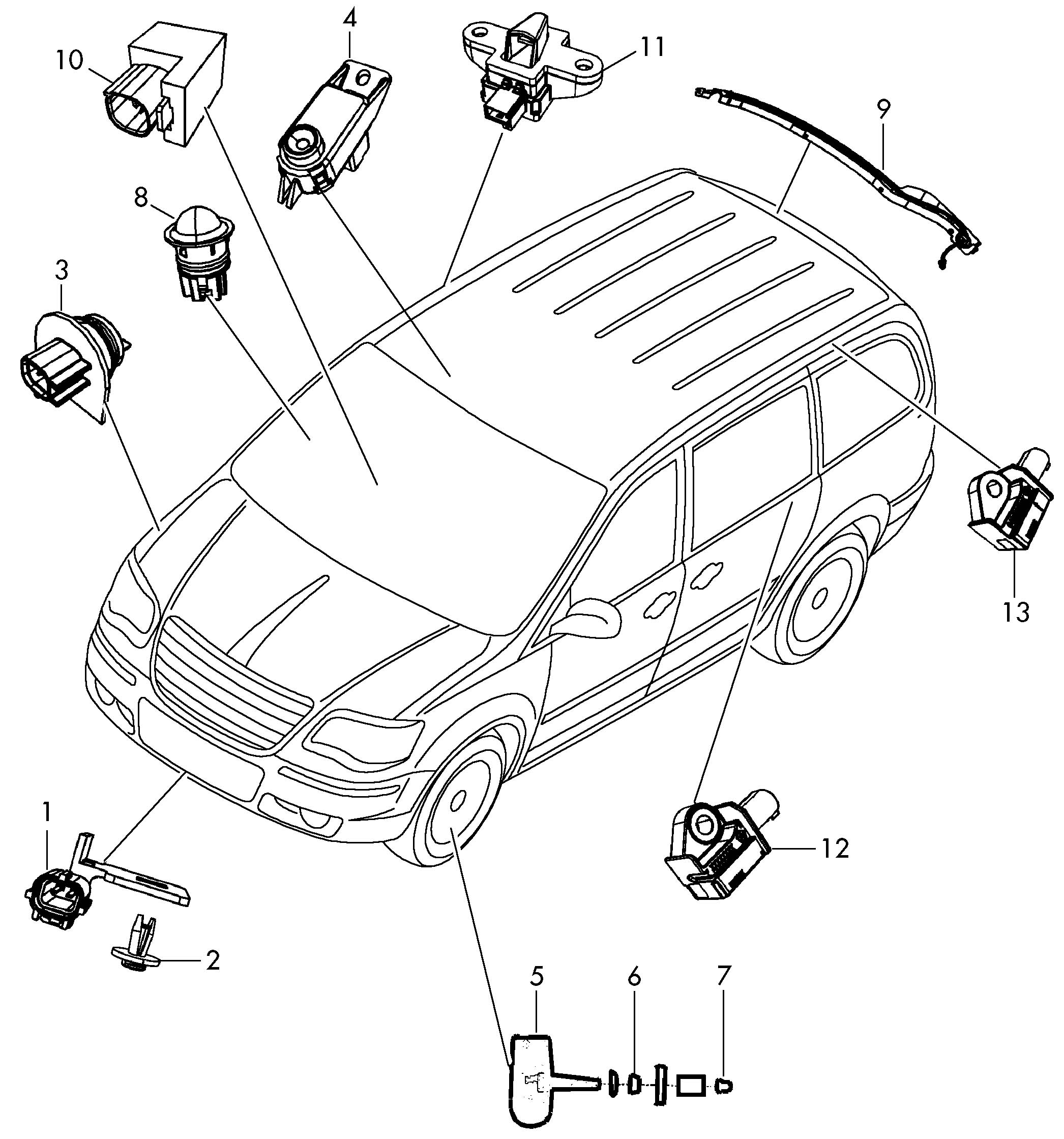 Volkswagen Routan Rear Panel Pillar B Acceleration Sensor