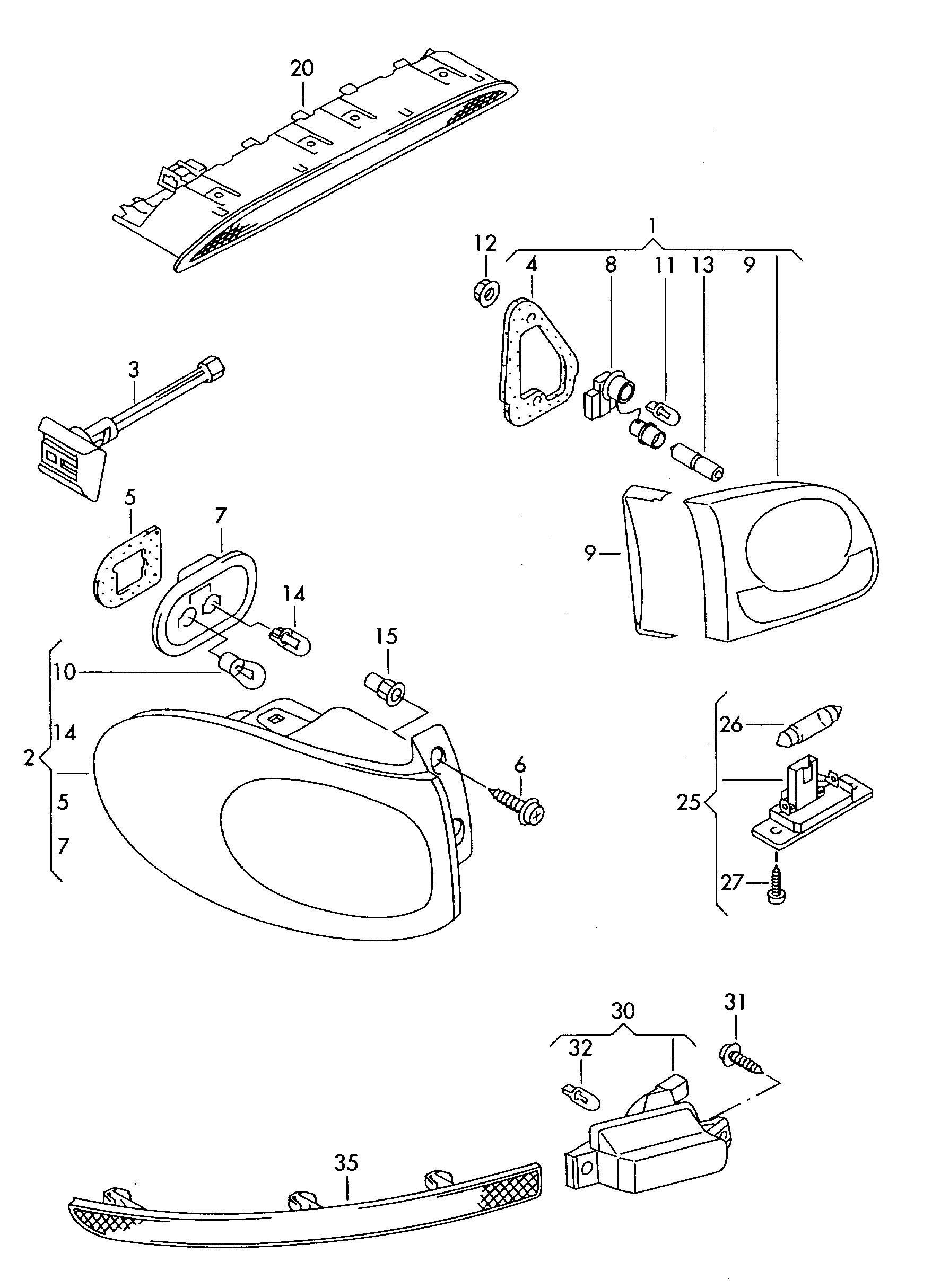 Volkswagen Tiguan Mounting For Lamp Socket Mounting For