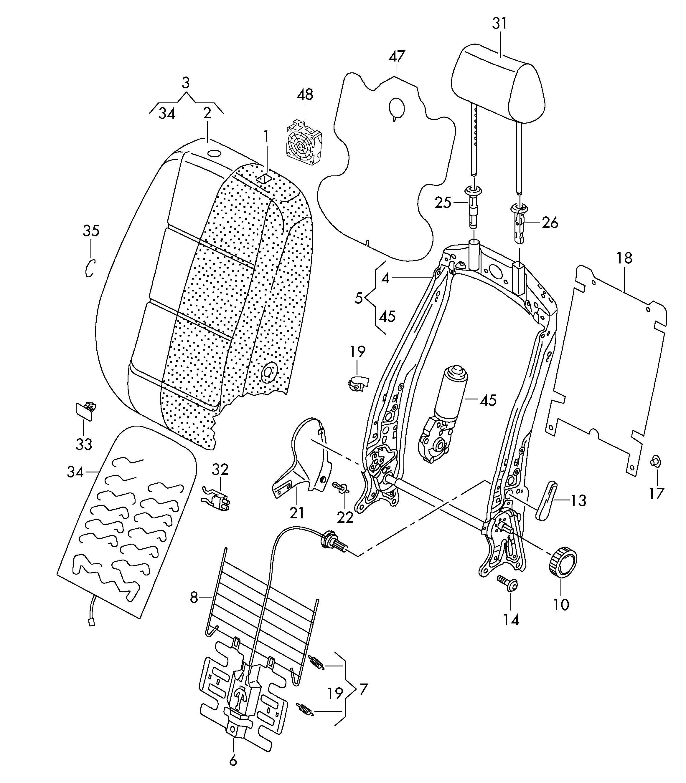 volkswagen passat cc lumbar support with adjustment motor