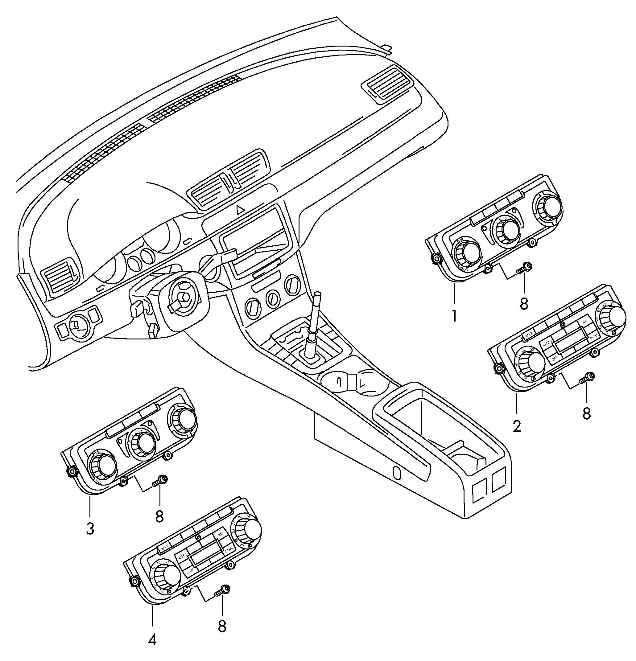 Volkswagen Vw Passat Cc Display And Operating Unit Display And Operating Unit For Electr