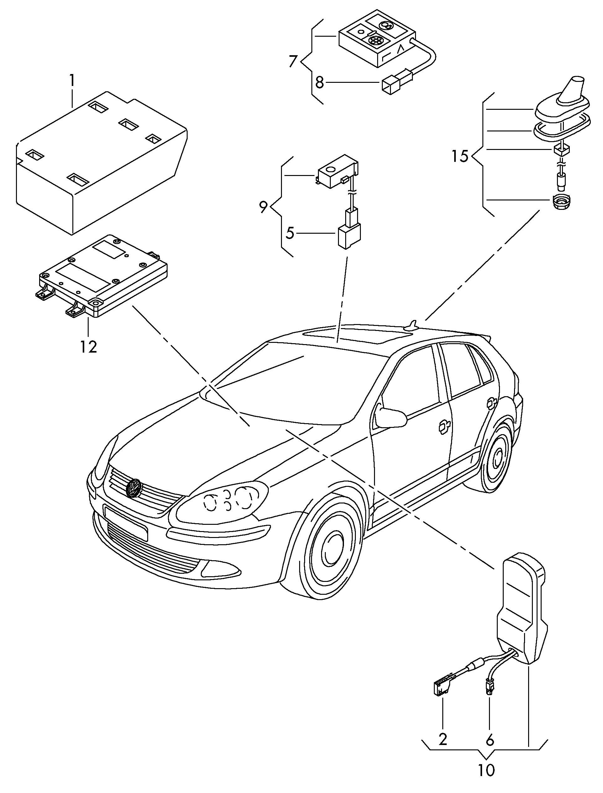 Volkswagen Golf Electrical Parts For Phone Preperation