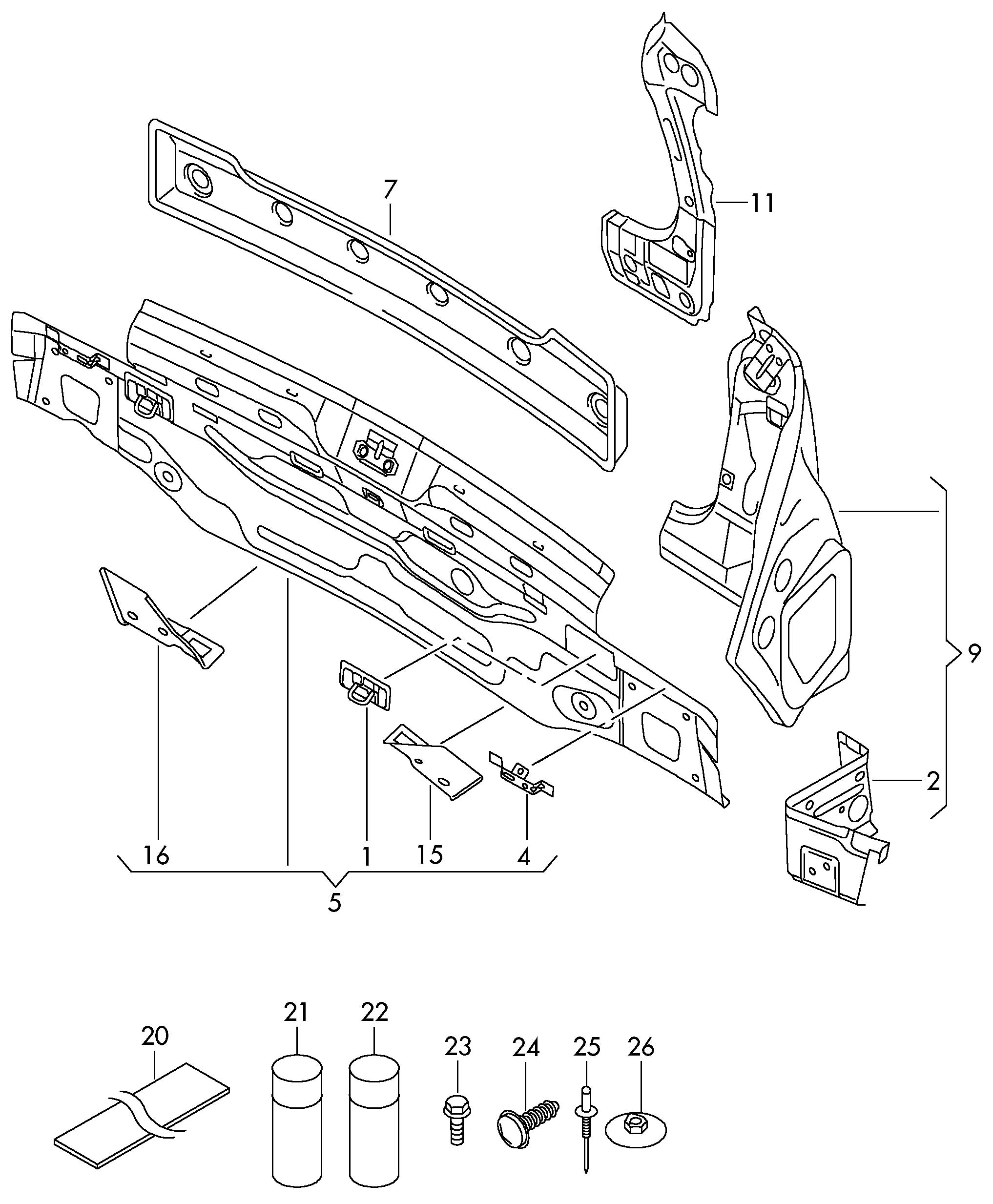 Volkswagen Rabbit Mounting For Taillight Taillight